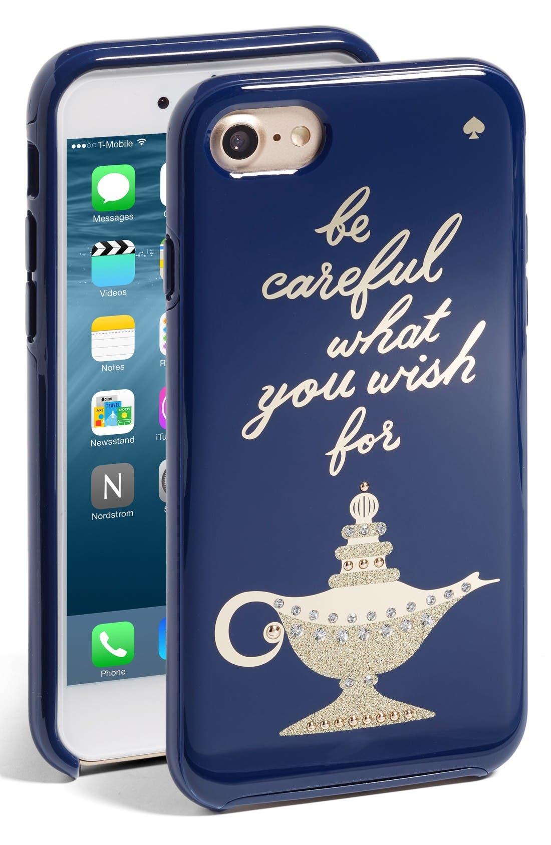 Alternate Image 1 Selected - kate spade new york magic lamp iPhone 7 case