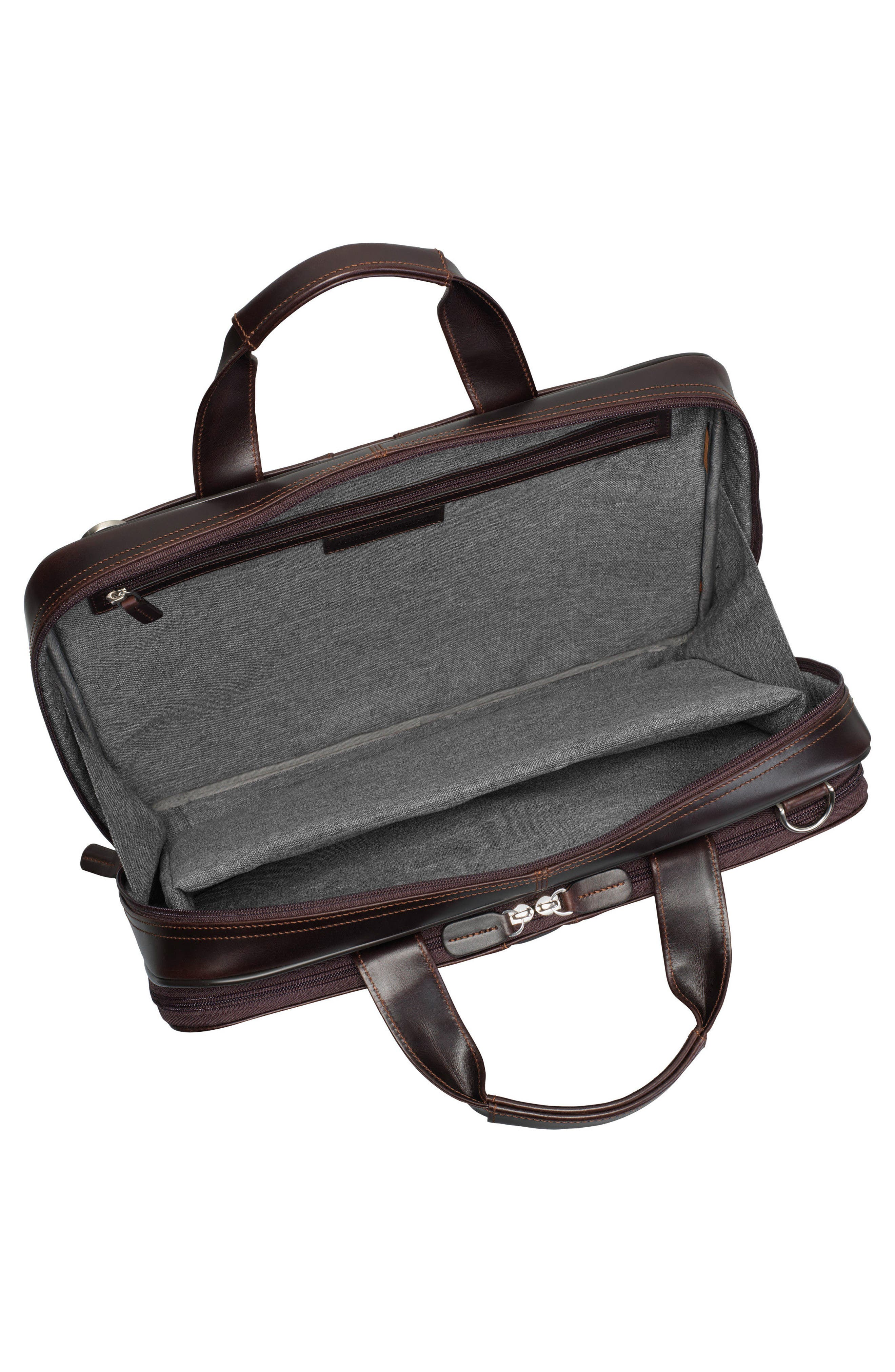 Alternate Image 3  - Johnston & Murphy Leather Briefcase