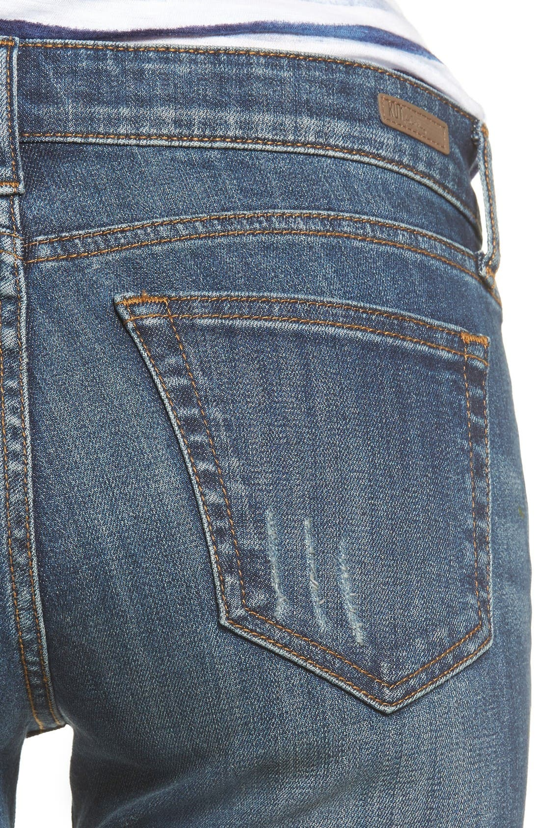 Alternate Image 4  - KUT from the Kloth Amy Ripped Straight Leg Jeans (Animation)