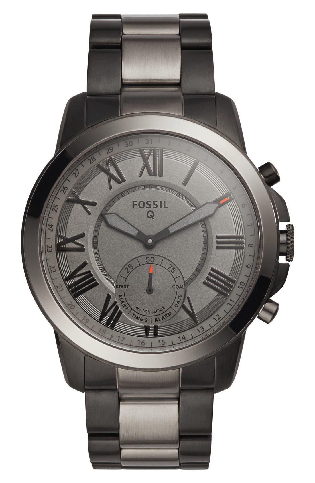 Grant Bracelet Smart Watch, 44mm,                         Main,                         color, Black/ Gray/ Black