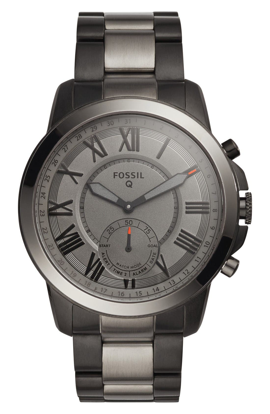 Fossil Q Grant Bracelet Smart Watch, 44mm