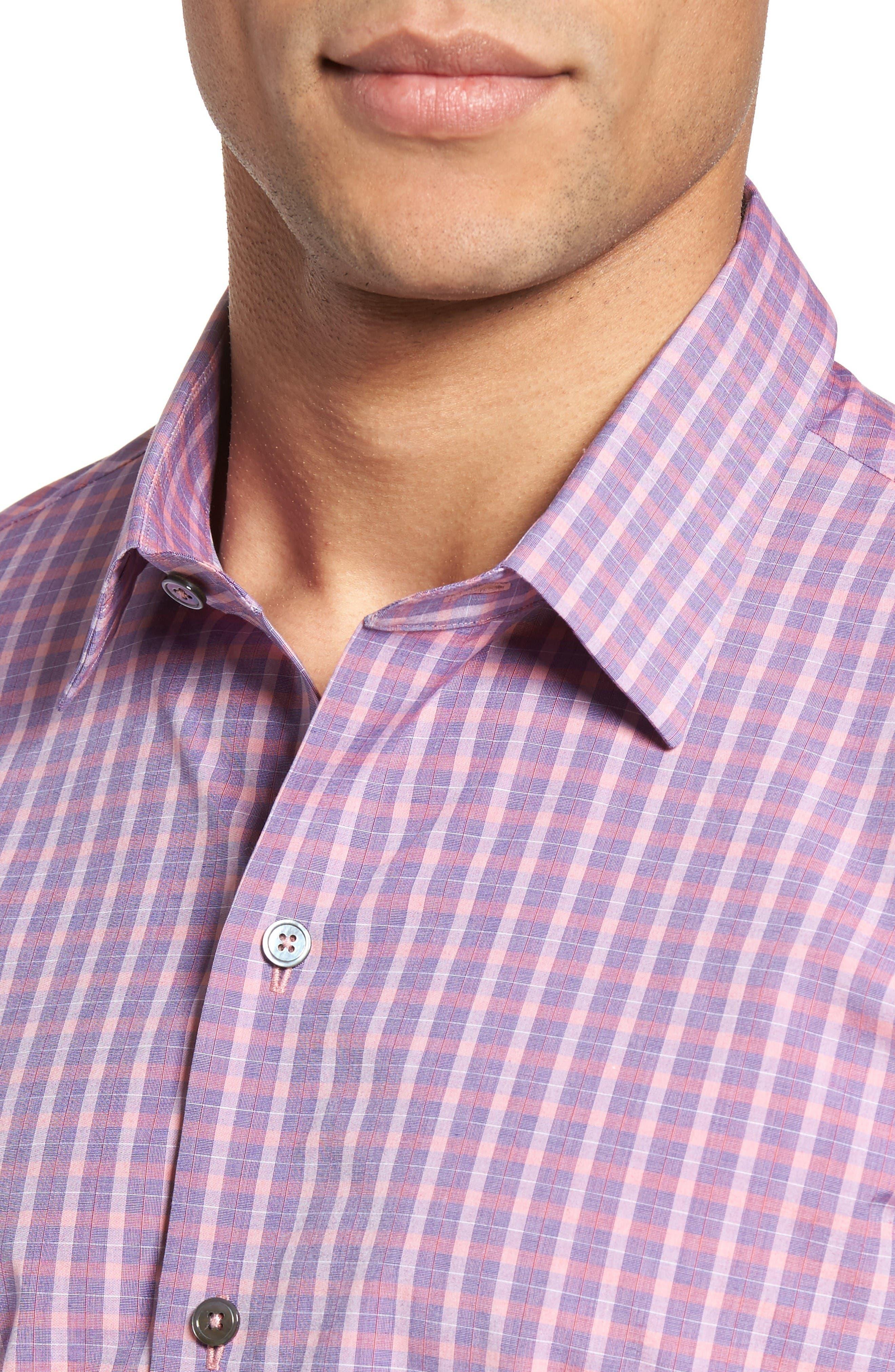 Alternate Image 4  - Zachary Prell Trim Fit Plaid Sport Shirt