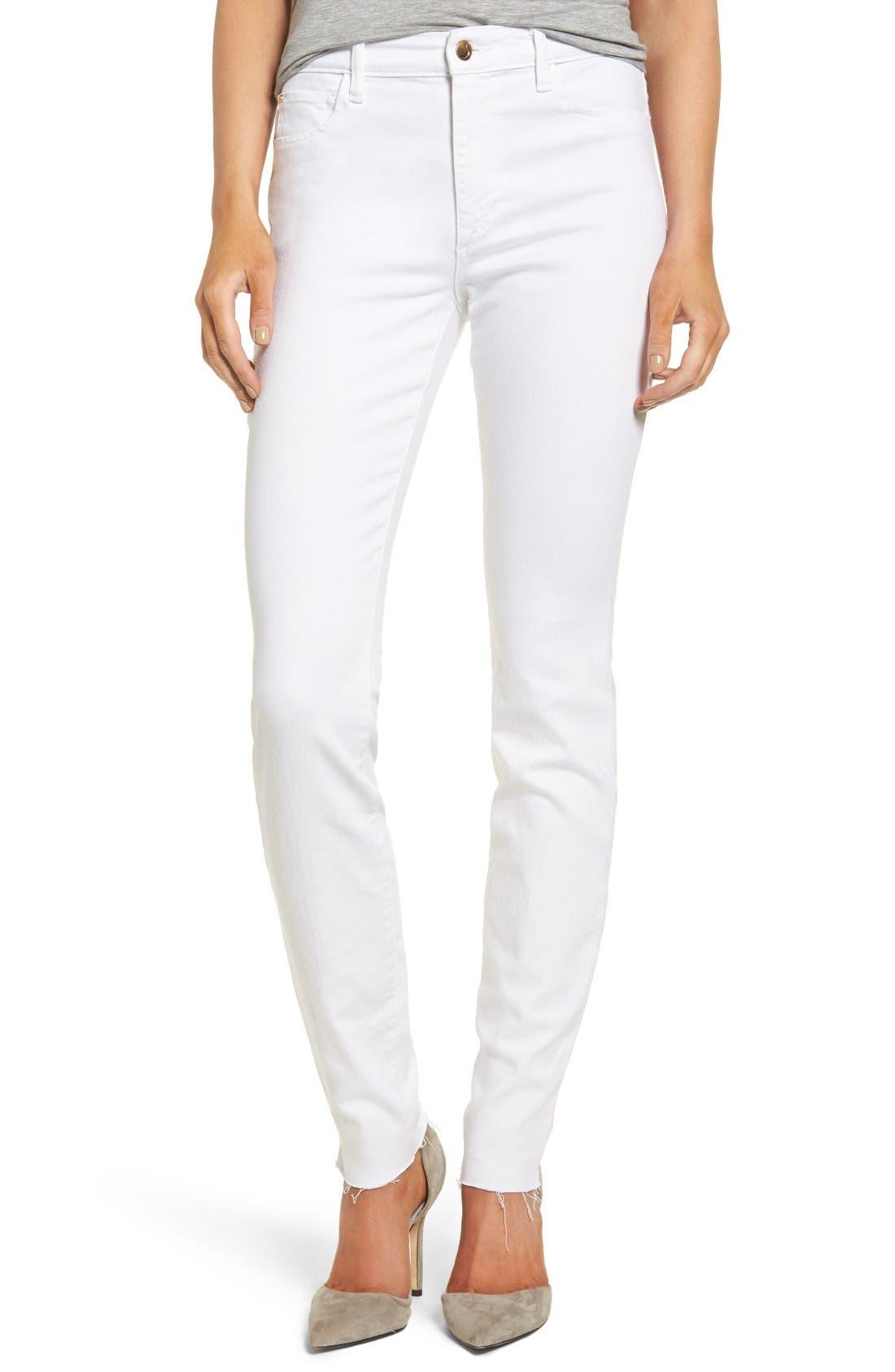 JOES Charlie Raw Hem High Rise Skinny Jeans