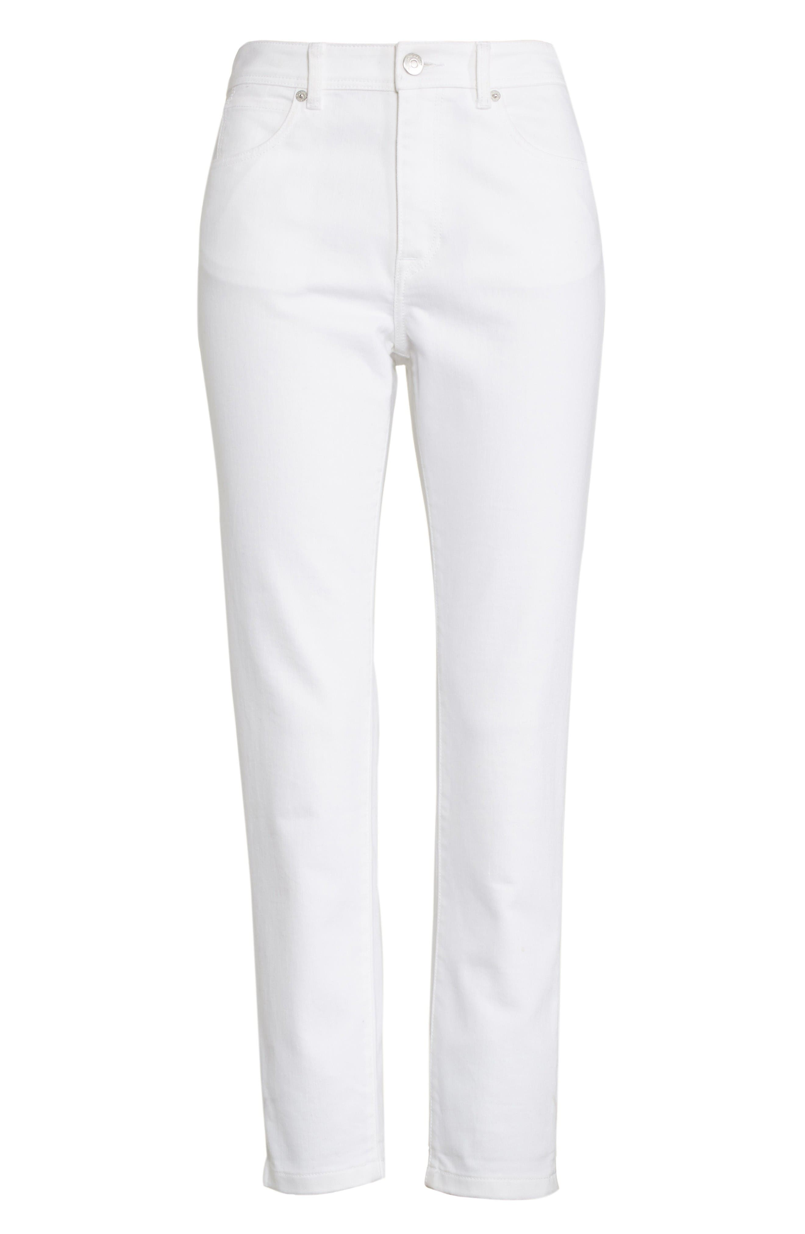 Alternate Image 4  - Burberry Stretch Crop Skinny Jeans
