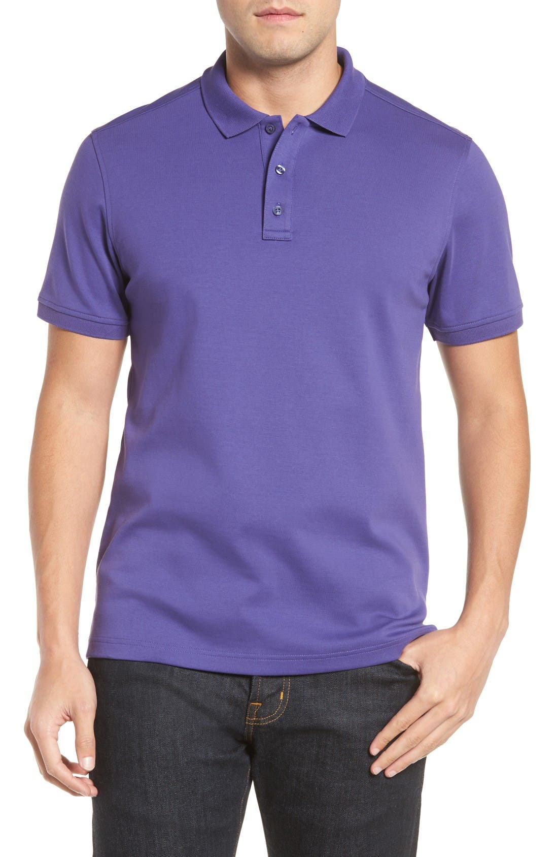moncler polo deep purple