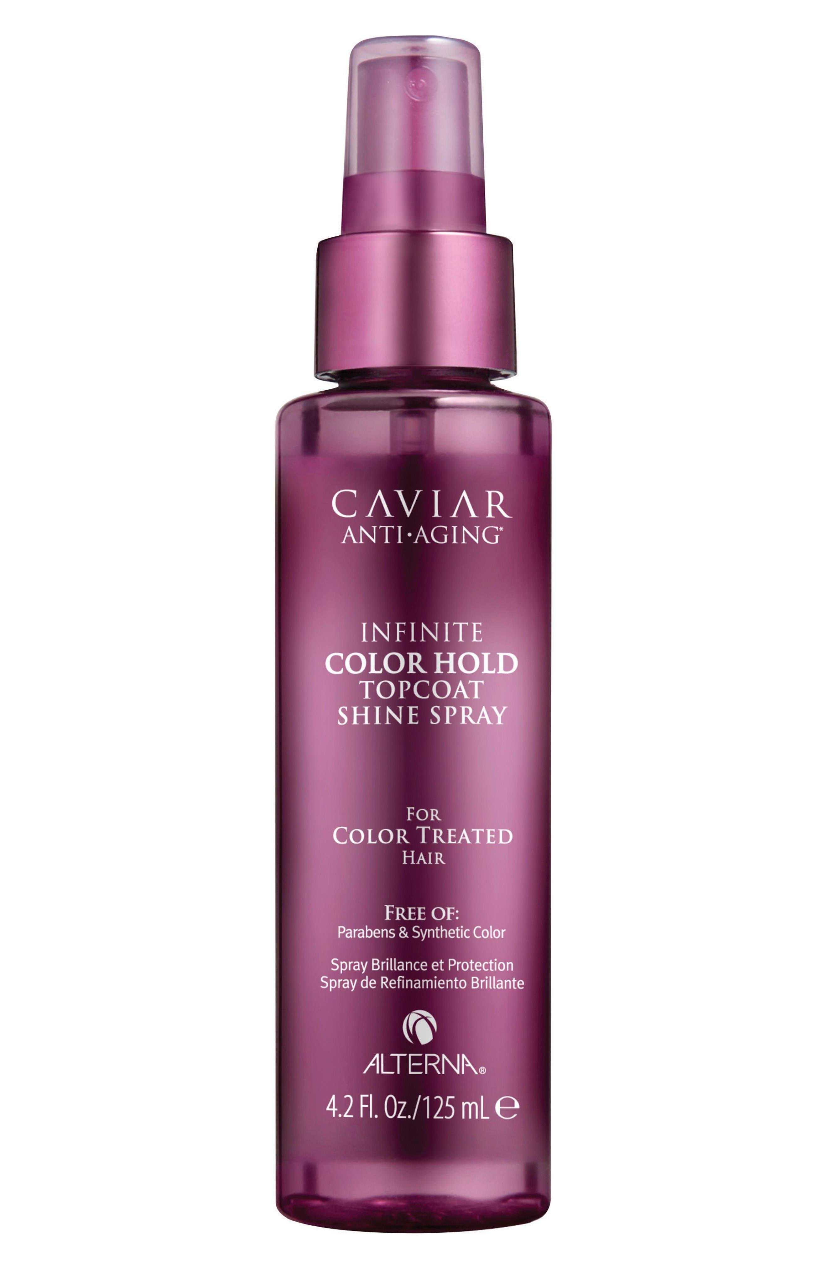 Caviar Infinite Color Hold Topcoat Shine Spray,                         Main,                         color, No Color