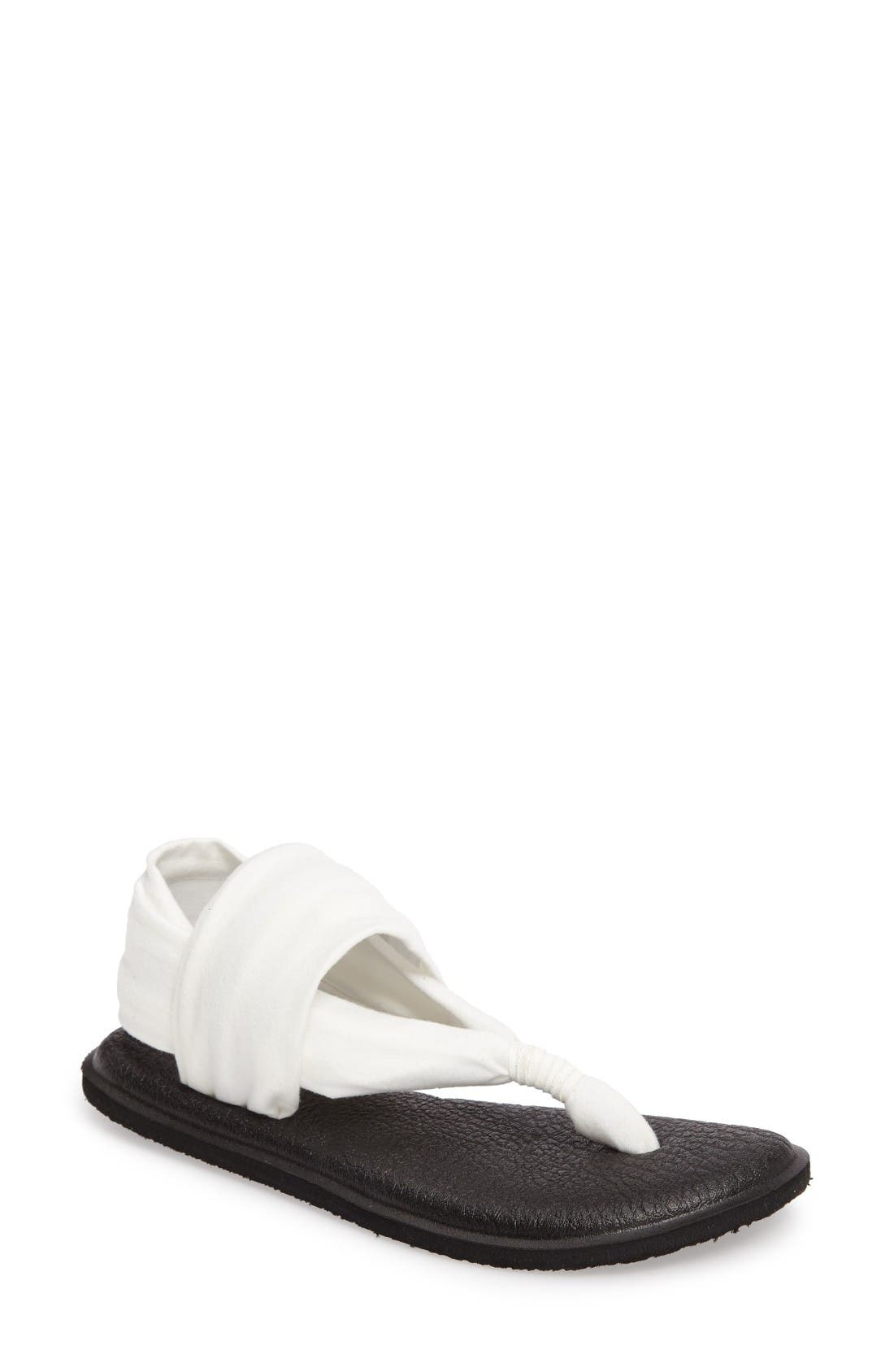 'Yoga Sling 2' Sandal,                         Main,                         color, White