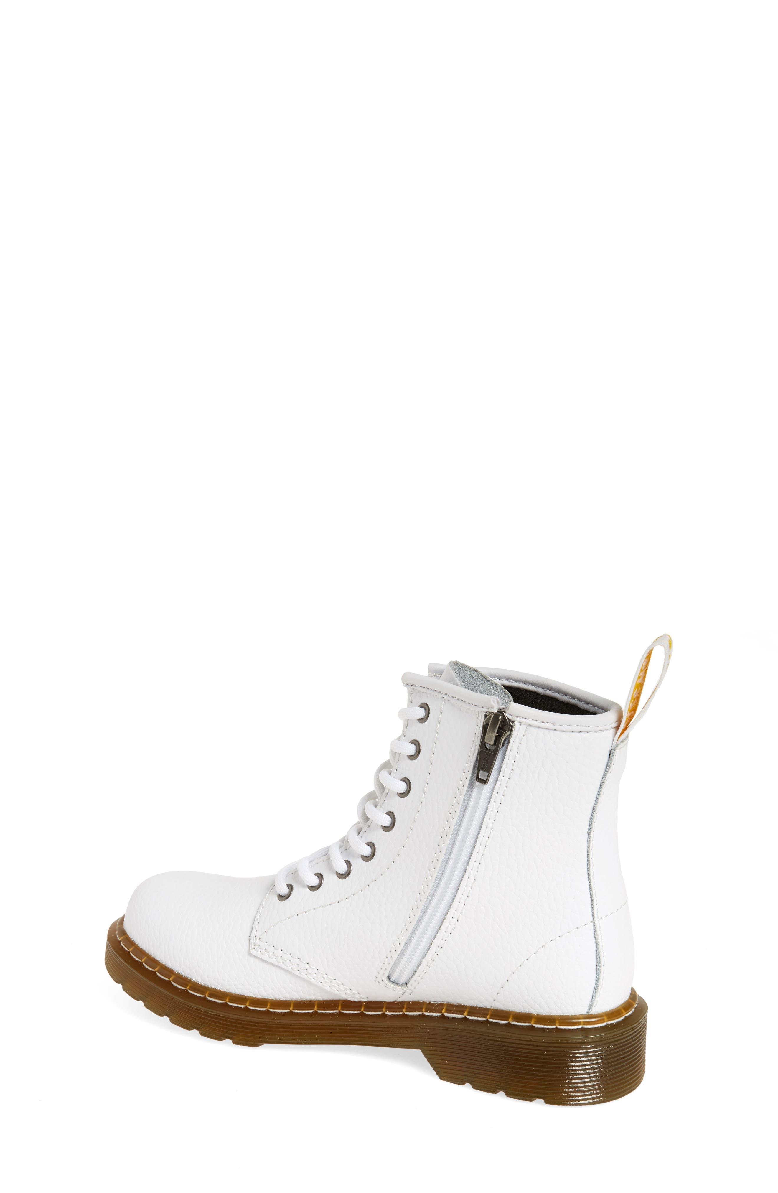 Delaney Pebbled Boot,                             Alternate thumbnail 2, color,                             White Pebble Leather