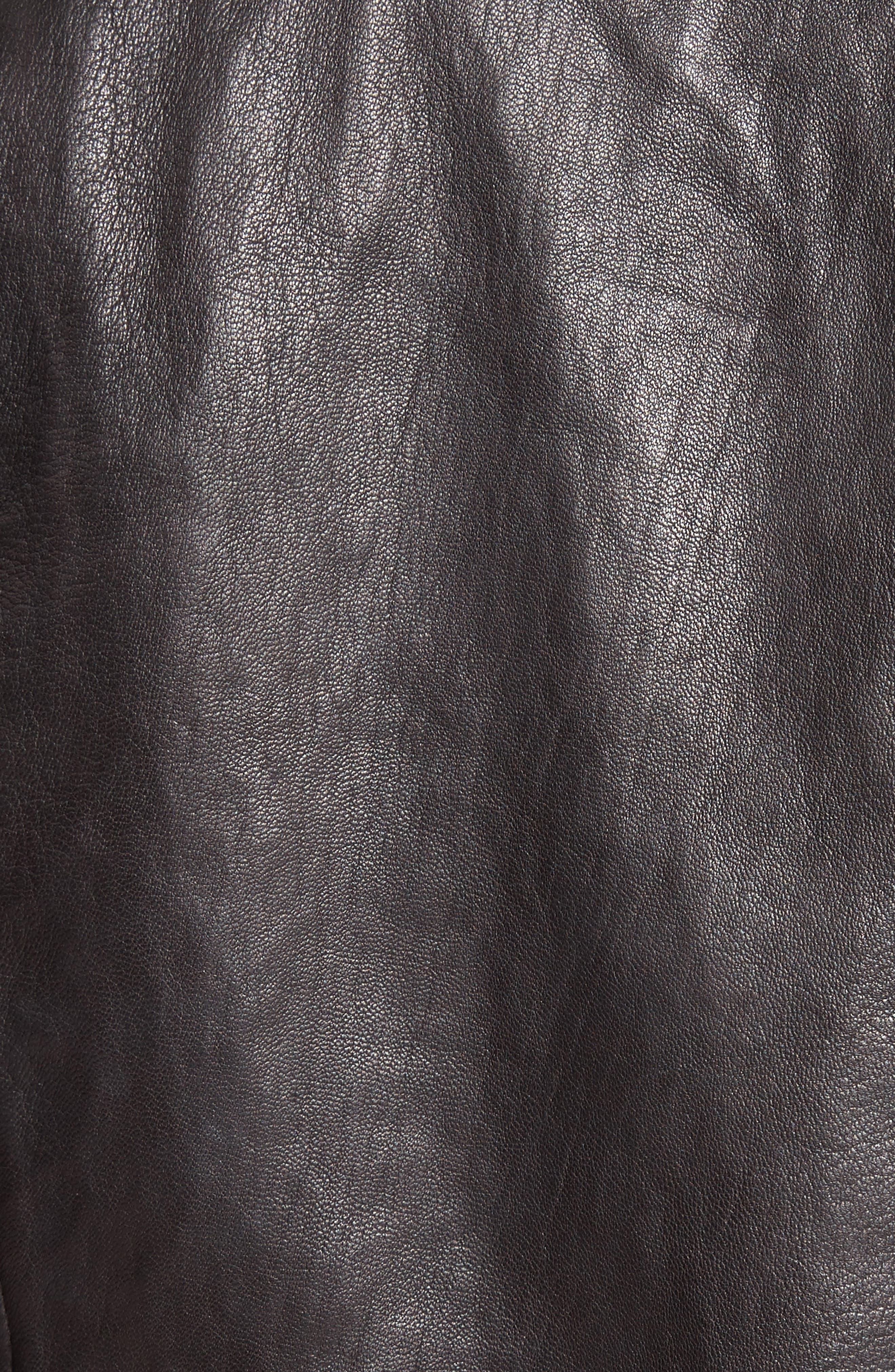 Merlyn Leather Jacket,                             Alternate thumbnail 3, color,                             Black