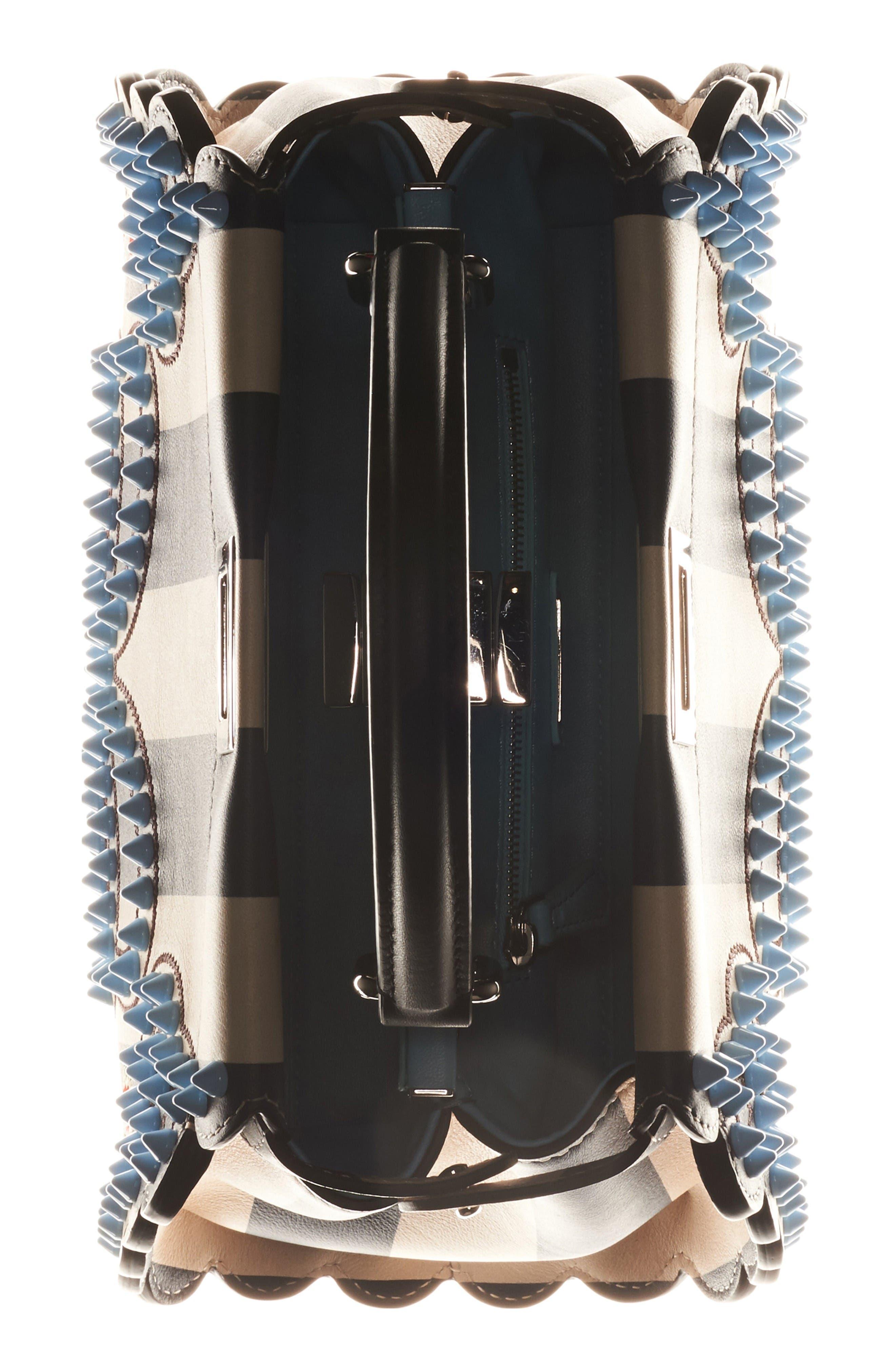 Alternate Image 3  - Fendi Mini Peekaboo Studded Stripe Leather Satchel