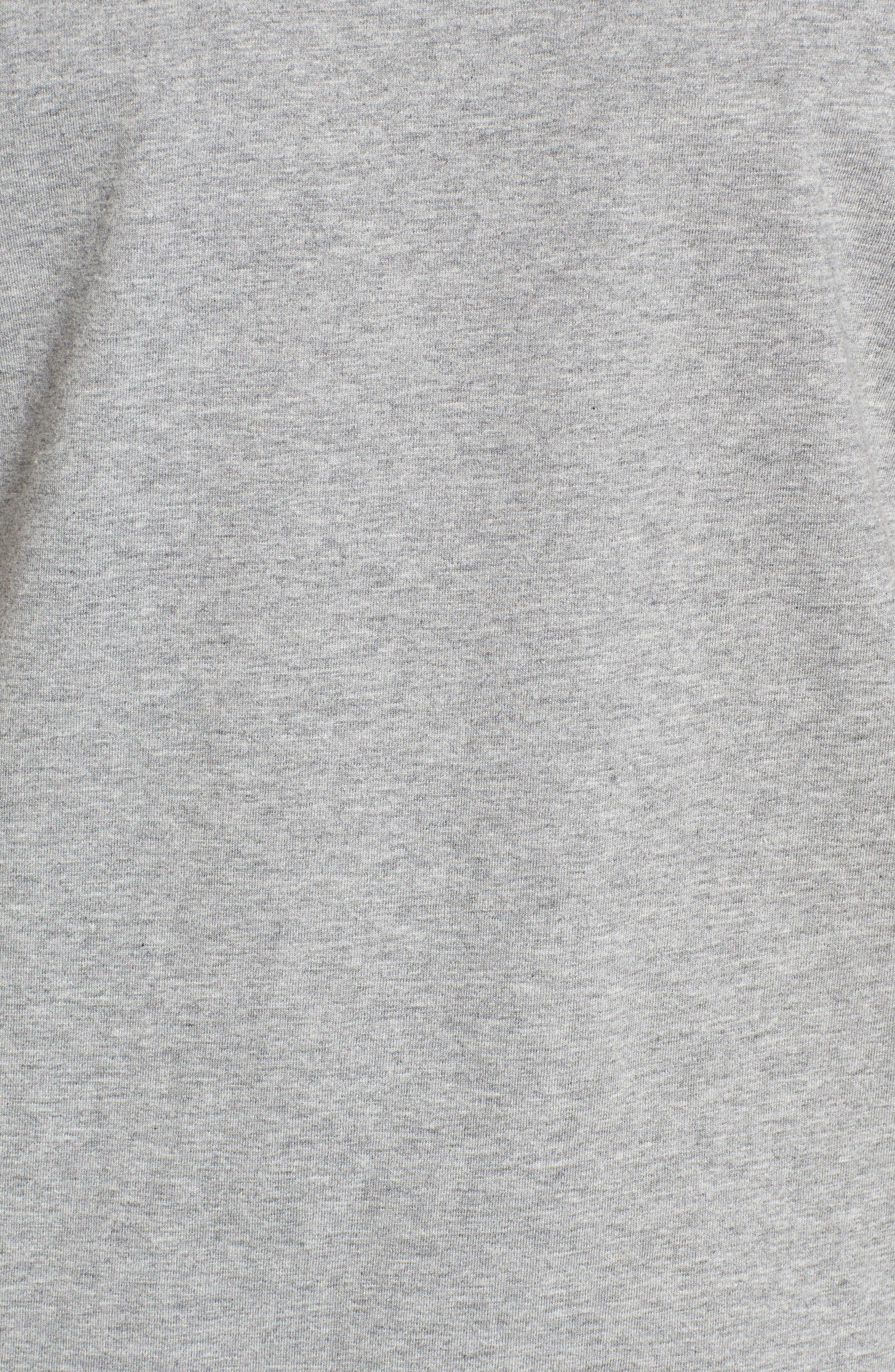 Extra Trim Fit Cotton Ringer T-Shirt,                             Alternate thumbnail 5, color,                             Steel Marl