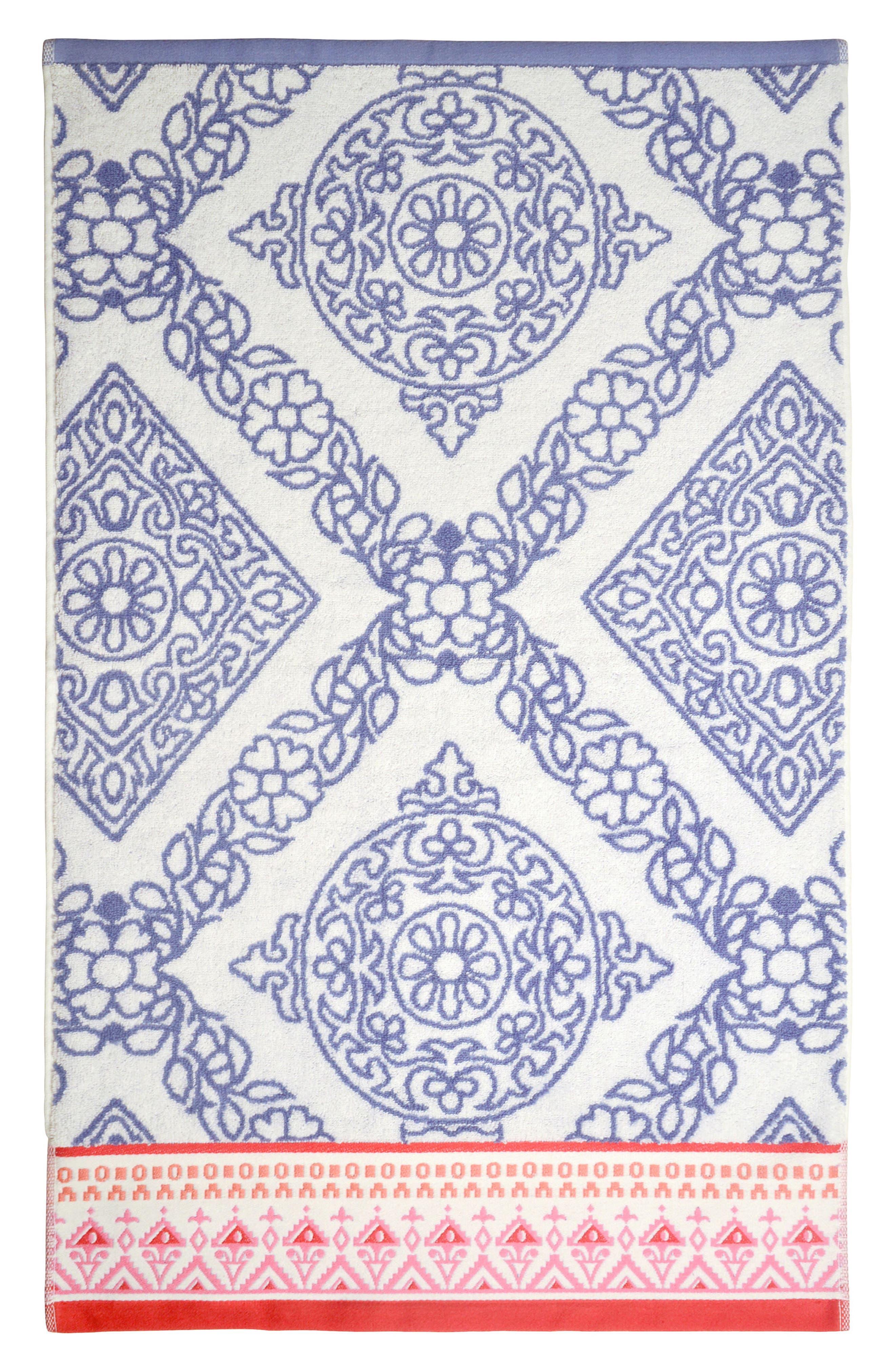 Mitta Hand Towel,                             Main thumbnail 1, color,                             Periwinkle