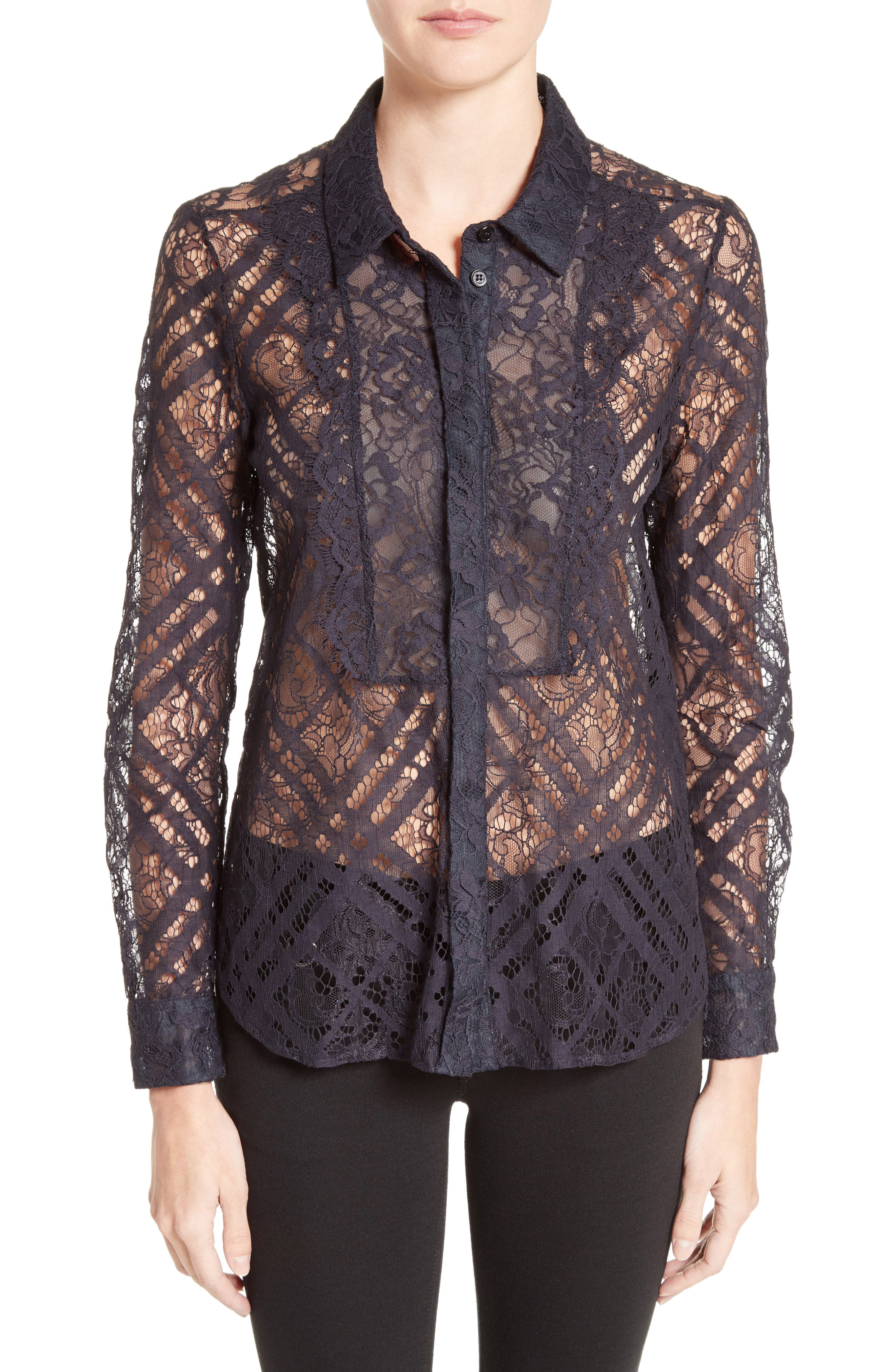 Burberry Aster Check Lace Shirt