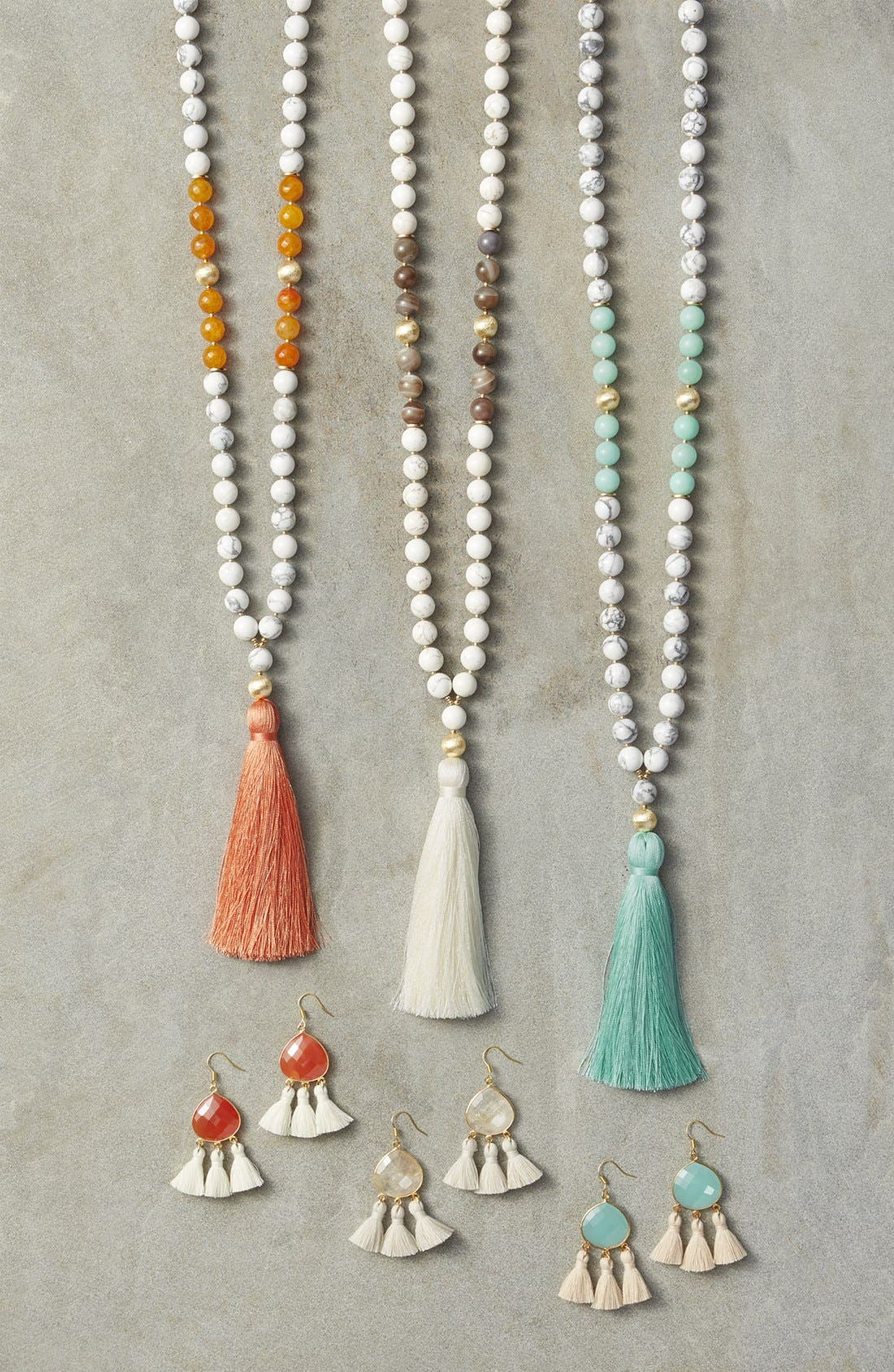 Alternate Image 3  - Love's Affect Elle Semiprecious Stone Tassel Necklace