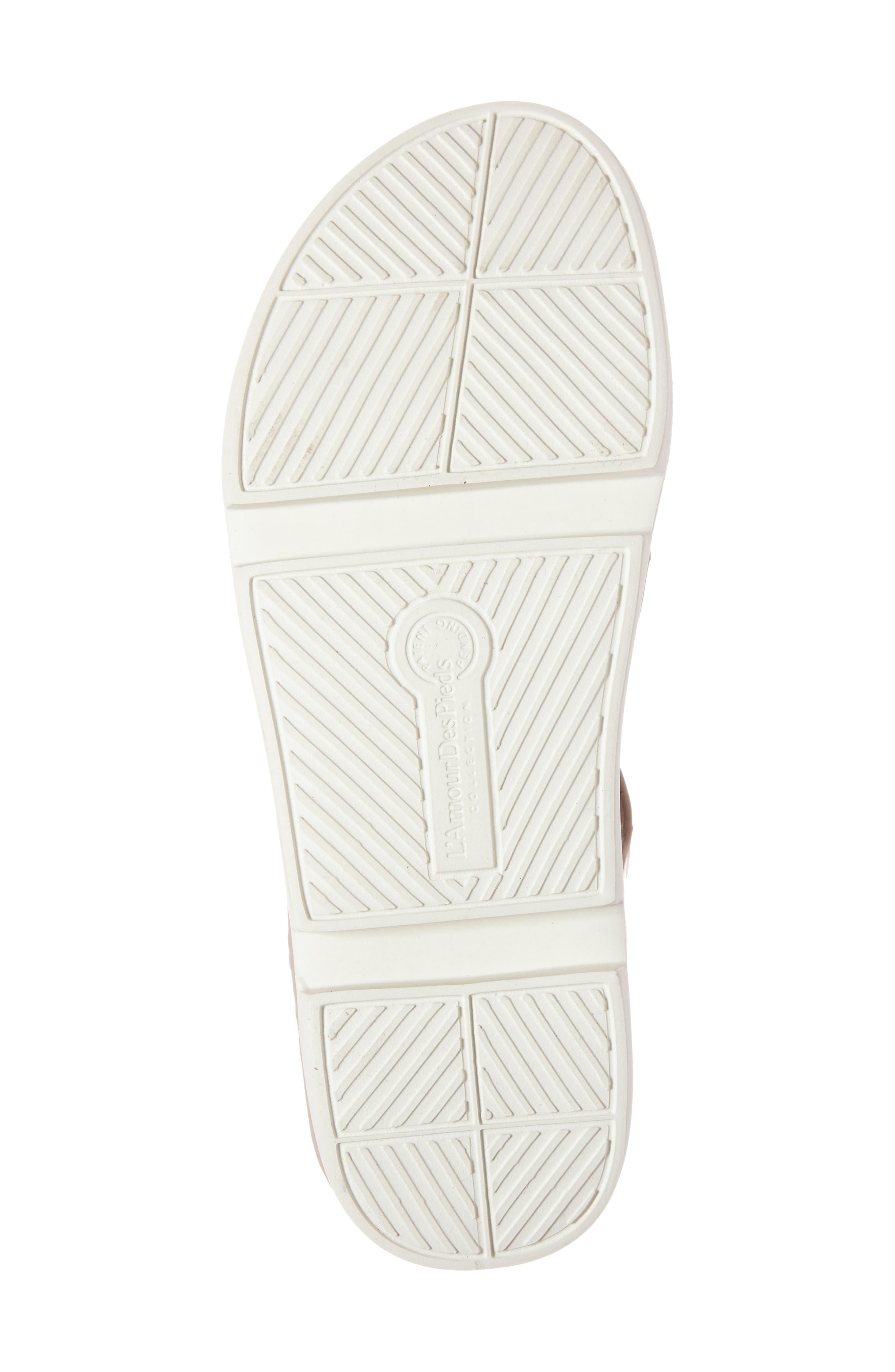 Villefranche Sandal,                             Alternate thumbnail 4, color,                             Nude Leather