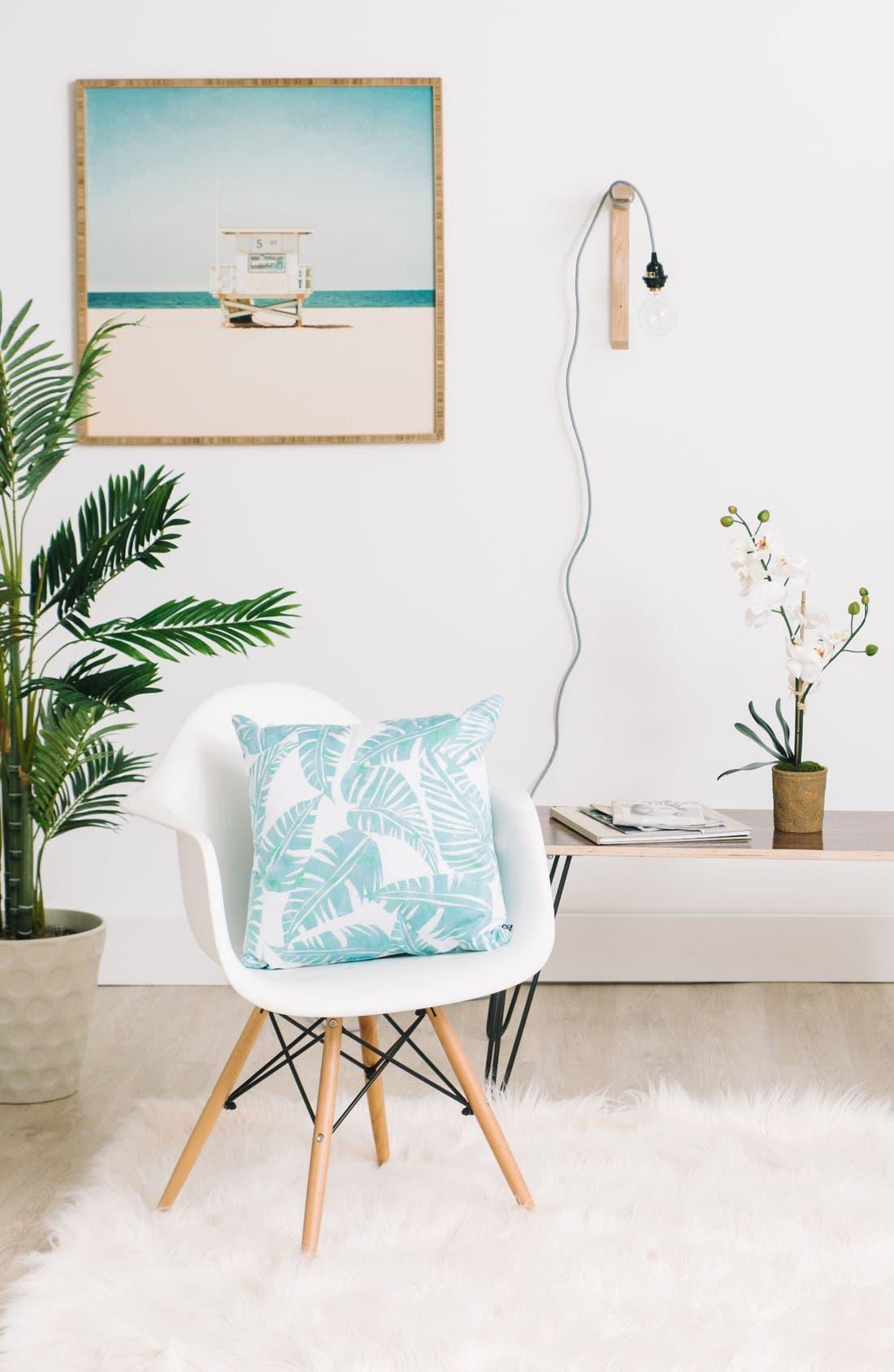 Alternate Image 2  - Deny Designs Lani Kai Leaf Pillow