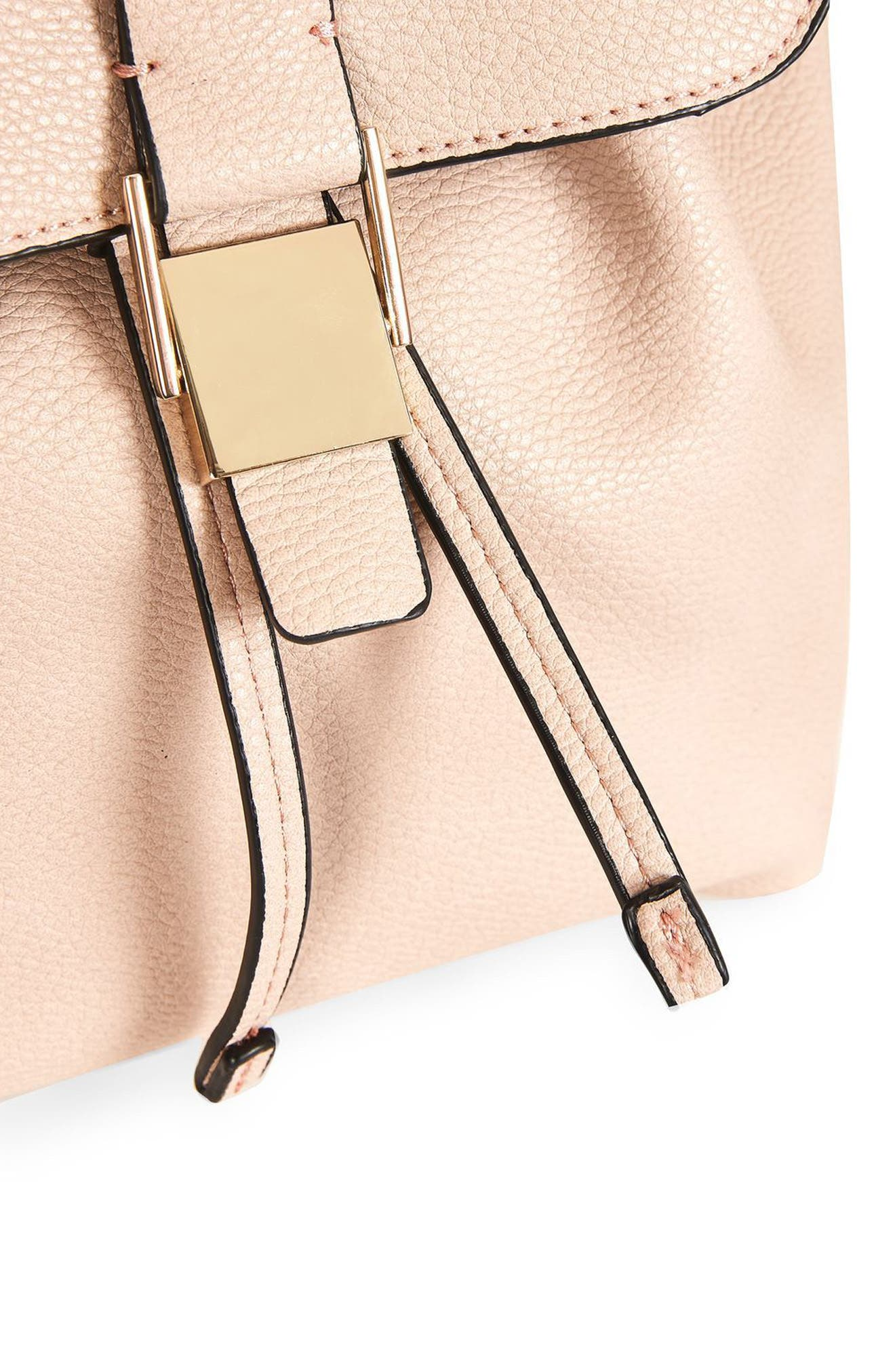 Alternate Image 5  - Topshop Mini Glasgow Faux Leather Backpack