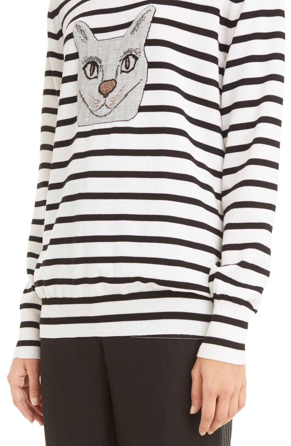 Alternate Image 6  - Loewe Cat Stripe Wool Blend Sweater