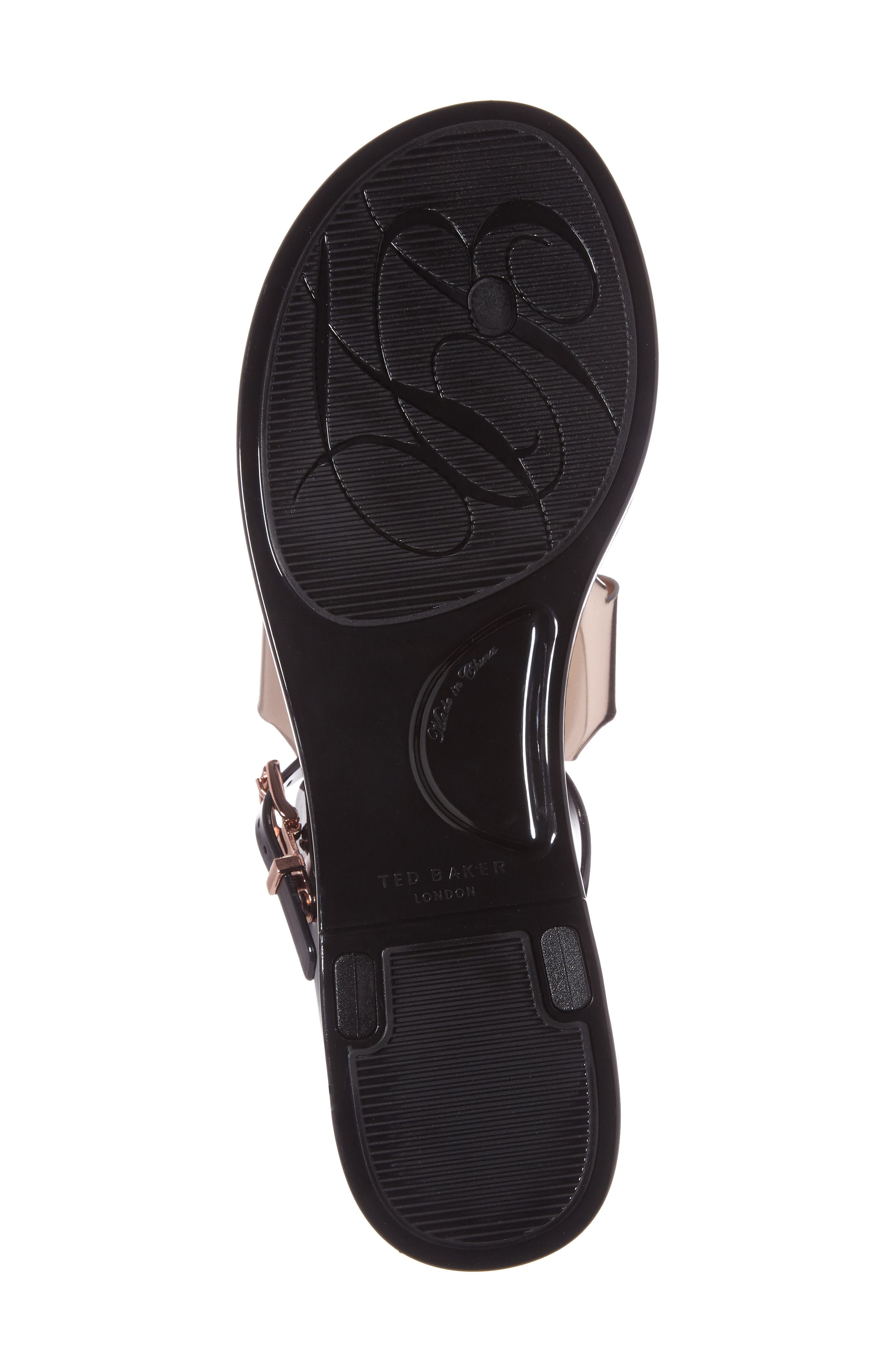 Ainda Slingback Bow Sandal,                             Alternate thumbnail 4, color,                             Black/ Rose Gold