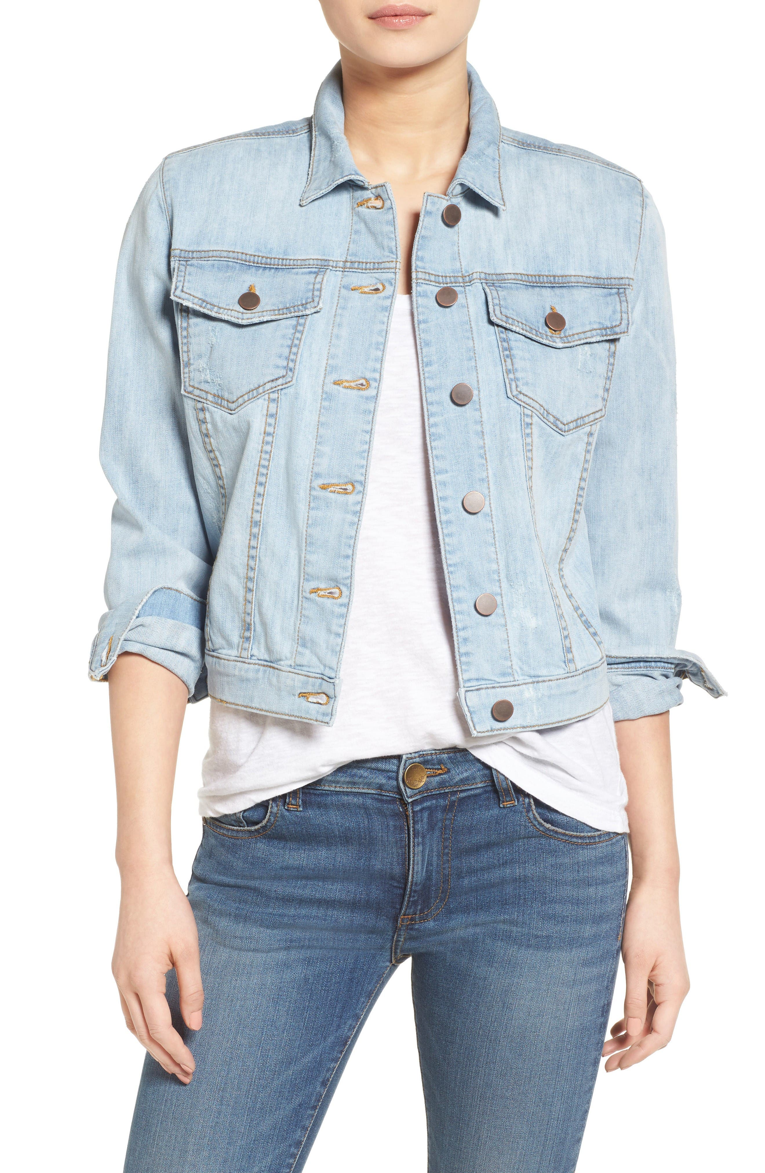 Helena Denim Jacket,                         Main,                         color, Approach