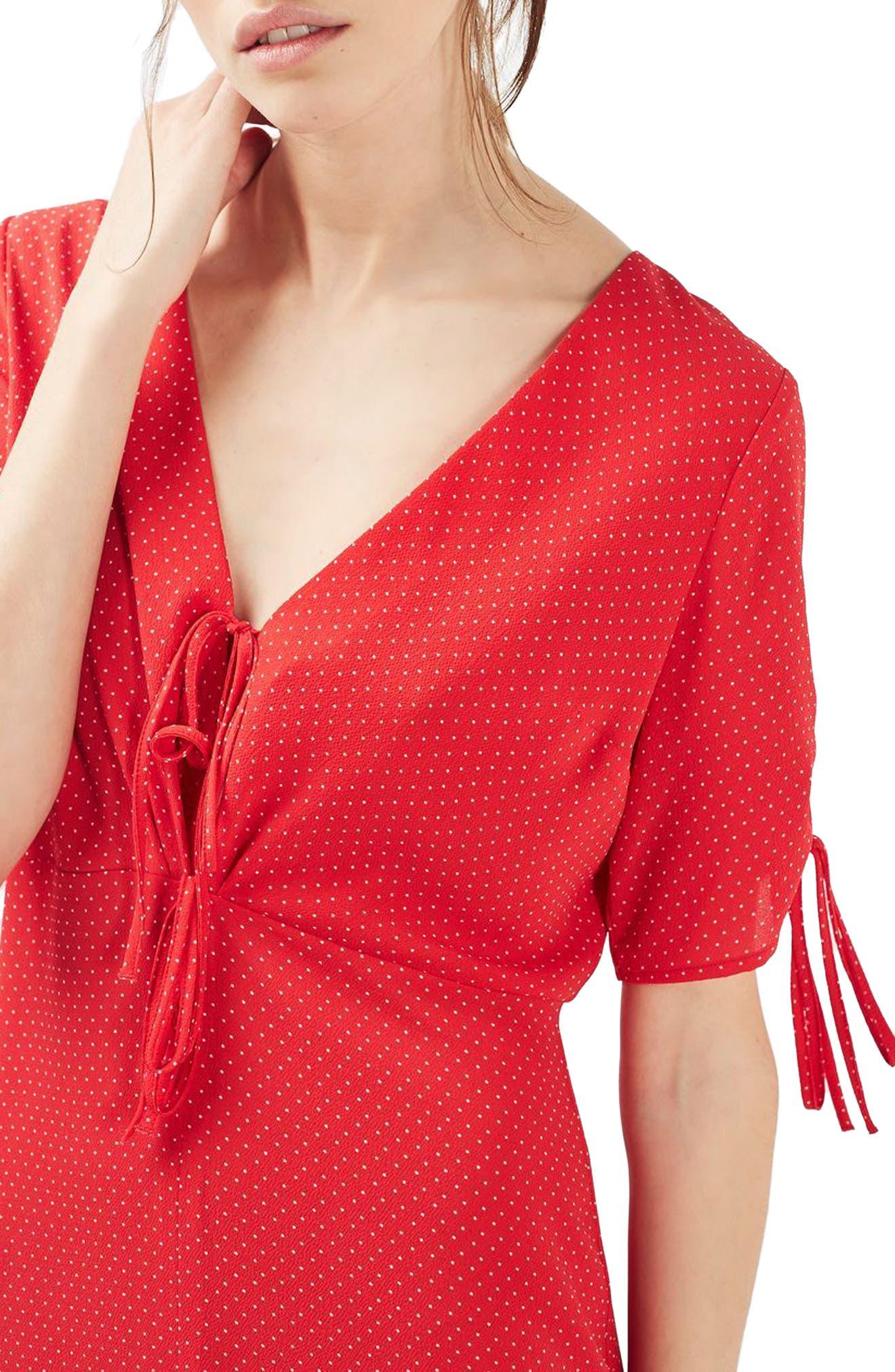Alternate Image 6  - Topshop Spot Tea Dress