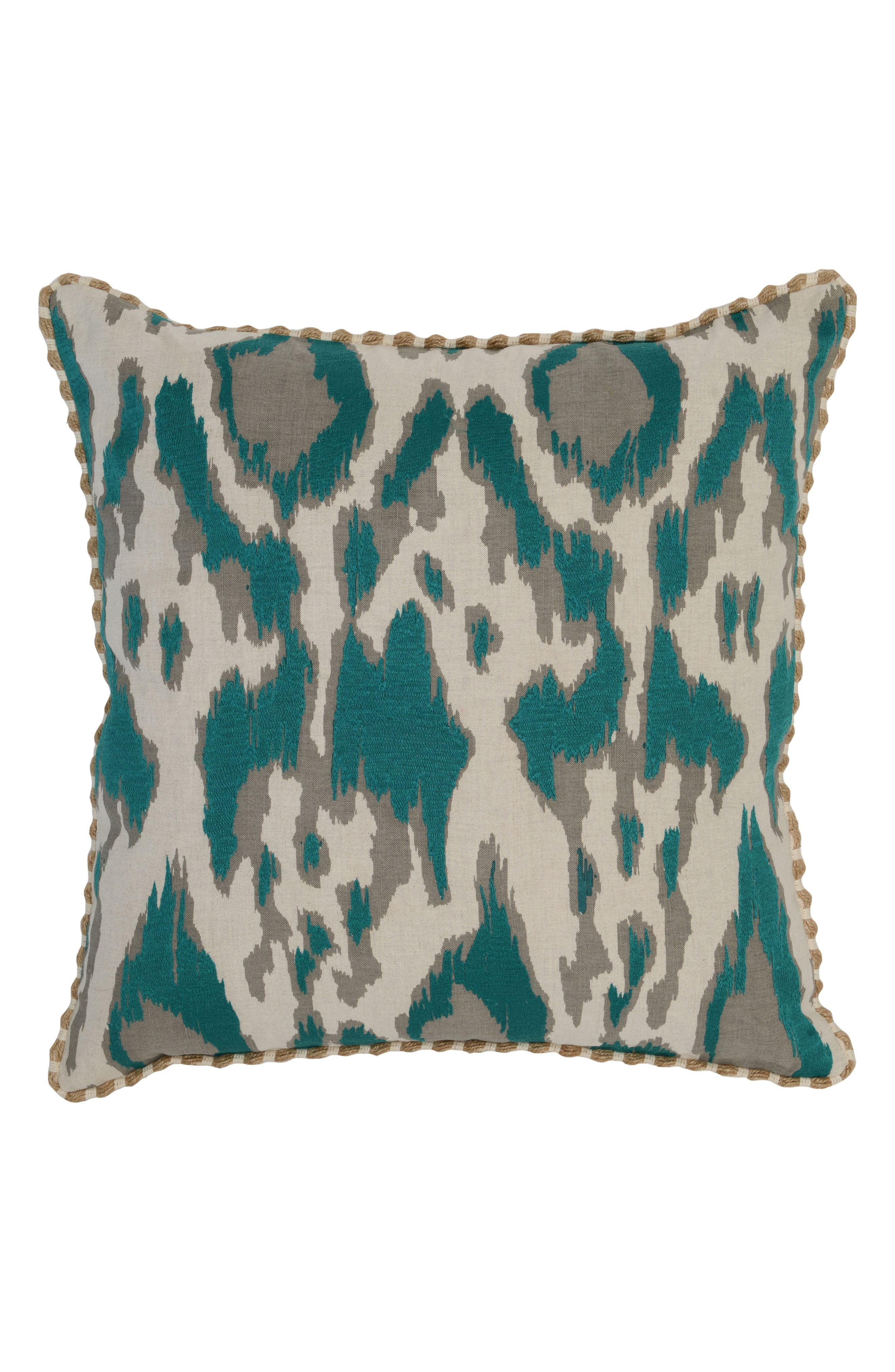 Chapala Accent Pillow,                             Main thumbnail 1, color,                             Teal/ Ivory