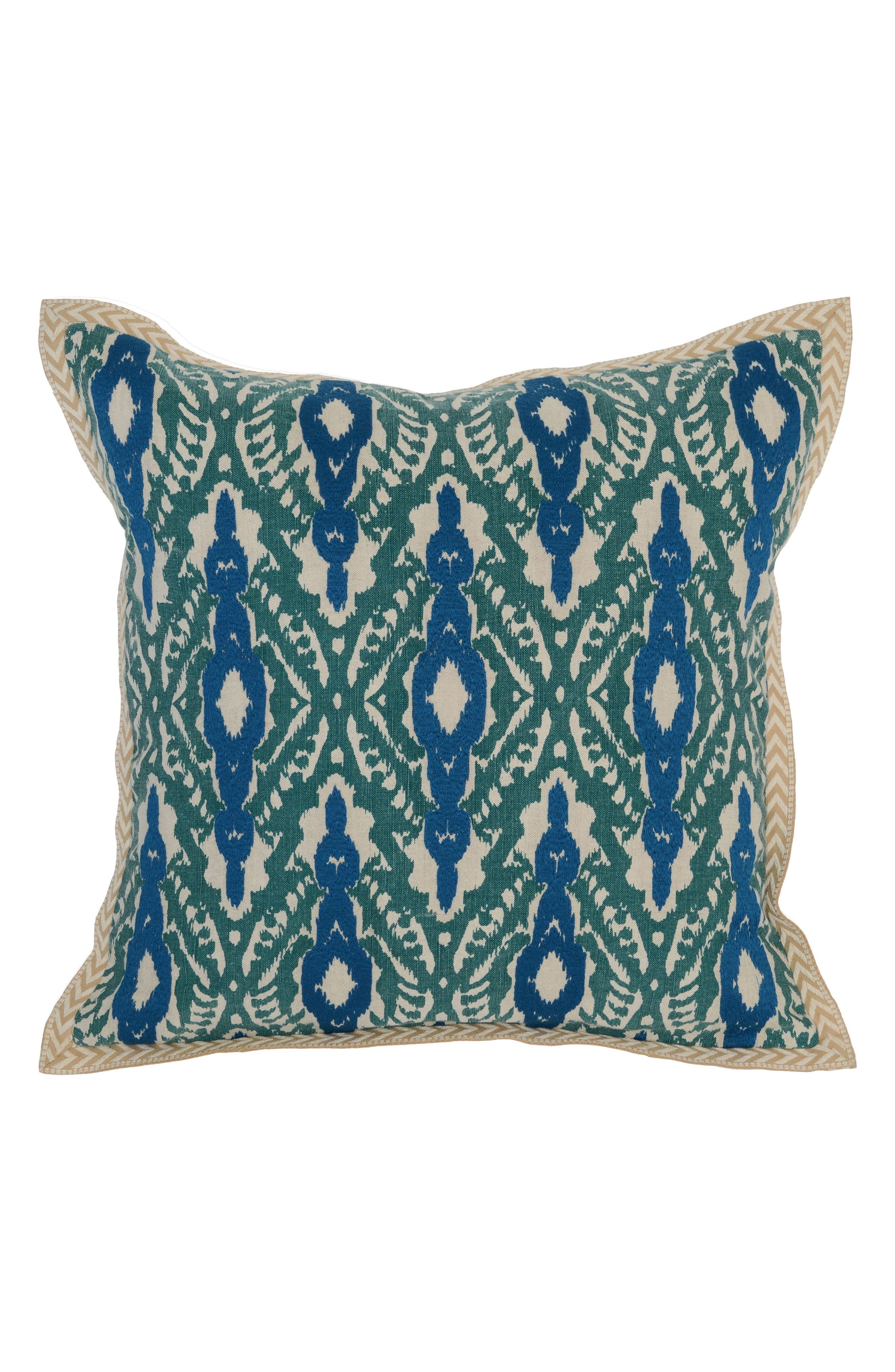 Bali Accent Pillow,                         Main,                         color, Teal/ Blue