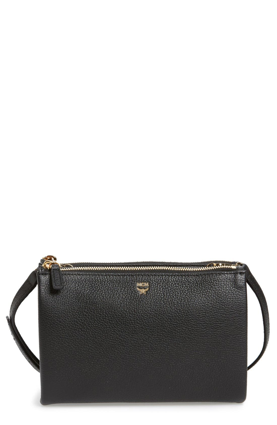 MCM Milla Double Leather Crossbody Bag