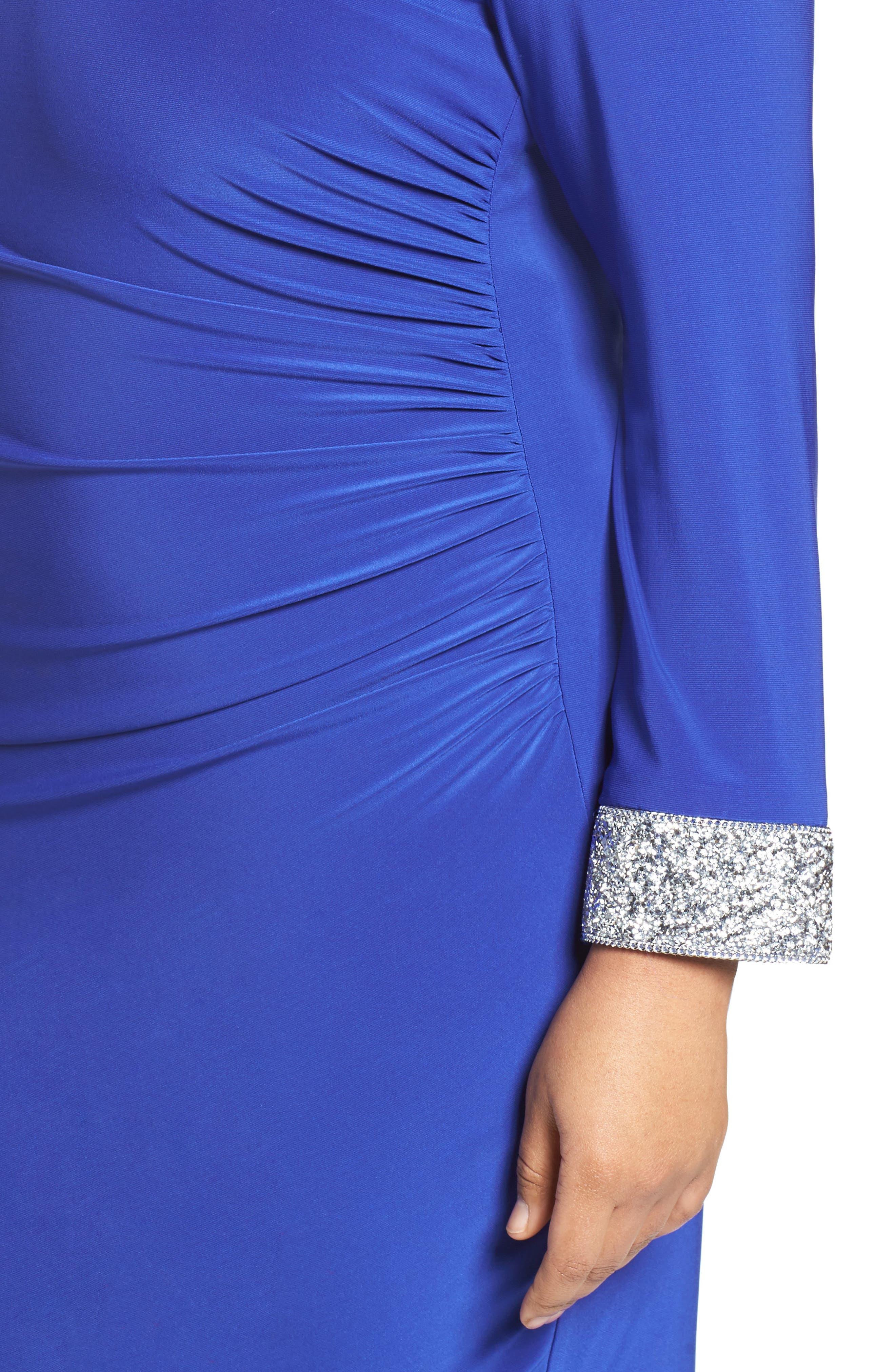Alternate Image 3  - Marina Open Back Sheath Dress (Plus Size)