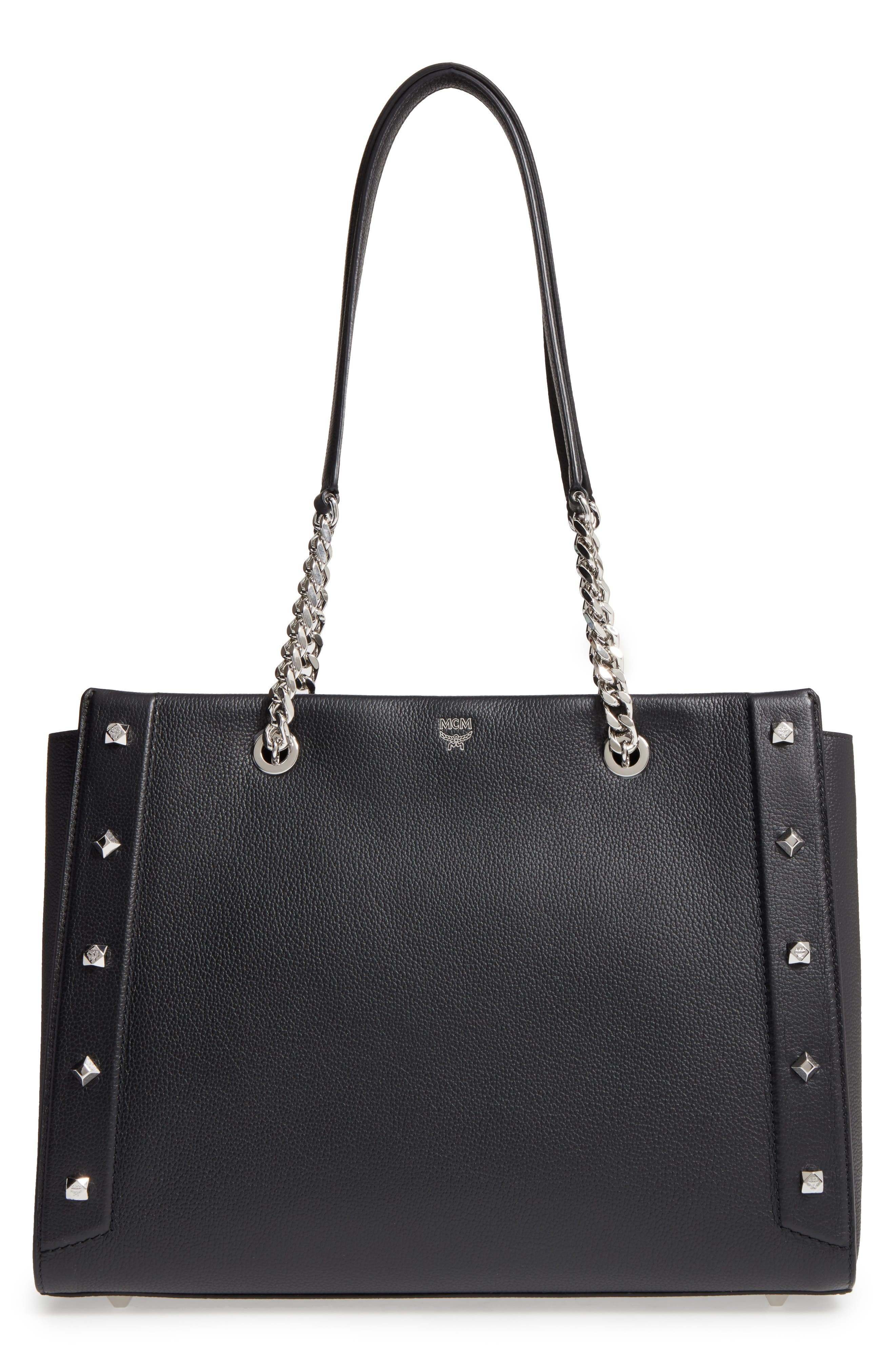 Alternate Image 1 Selected - MCM Large Catherine Leather Tote