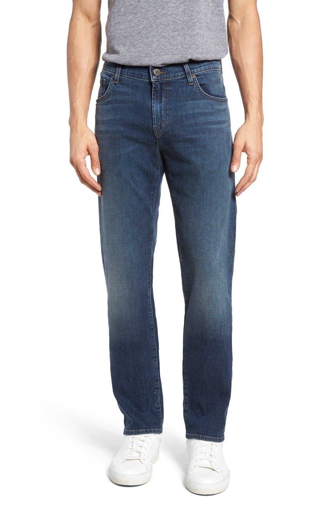 Alternate Image 1 Selected - J Brand Kane Slim Straight Leg Jeans (Helium)