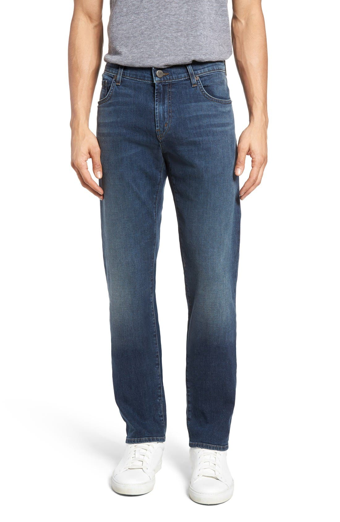 Main Image - J Brand Kane Slim Straight Leg Jeans (Helium)