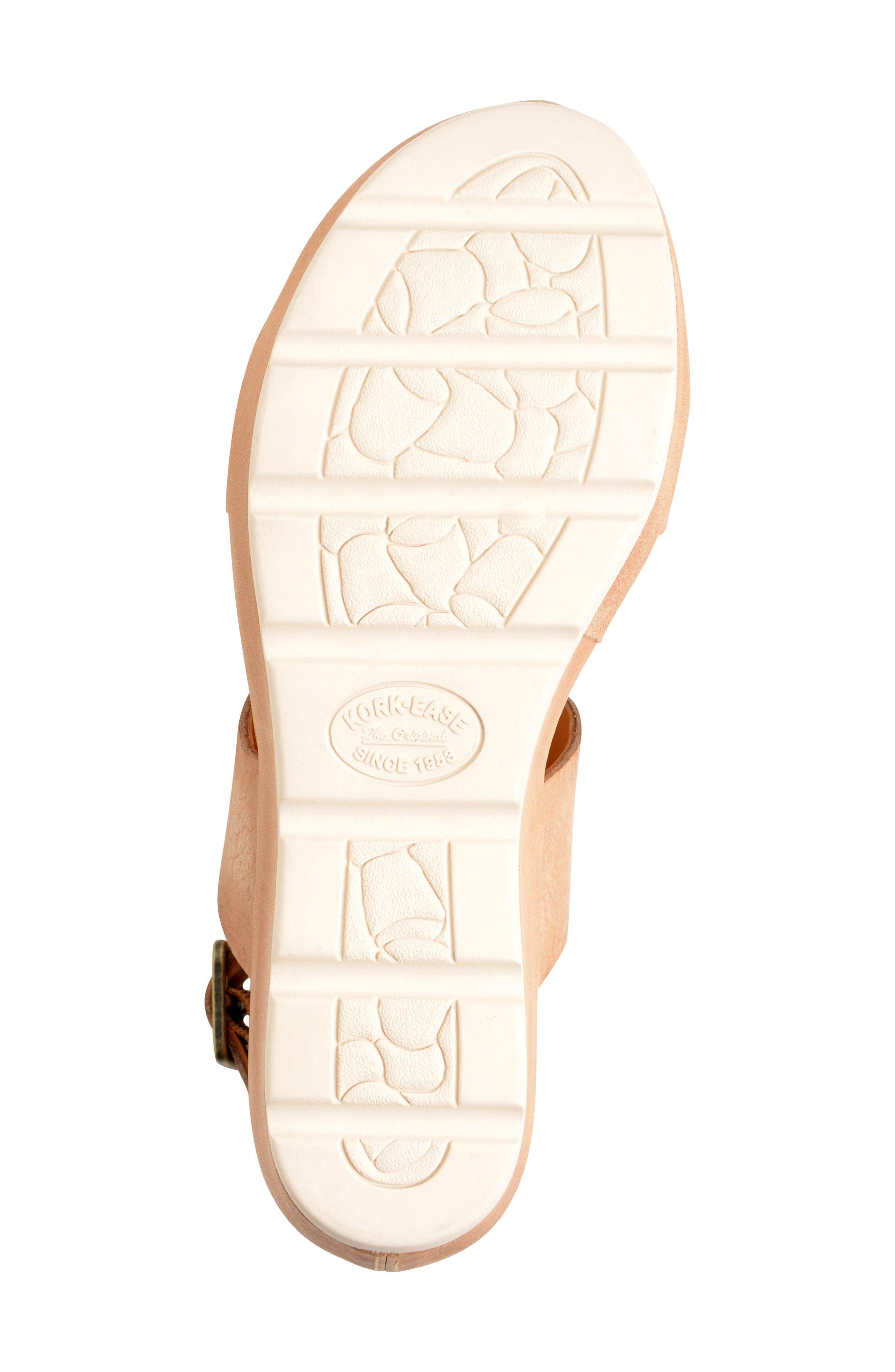 'Khloe' Platform Wedge Sandal,                             Alternate thumbnail 4, color,                             Natural Leather