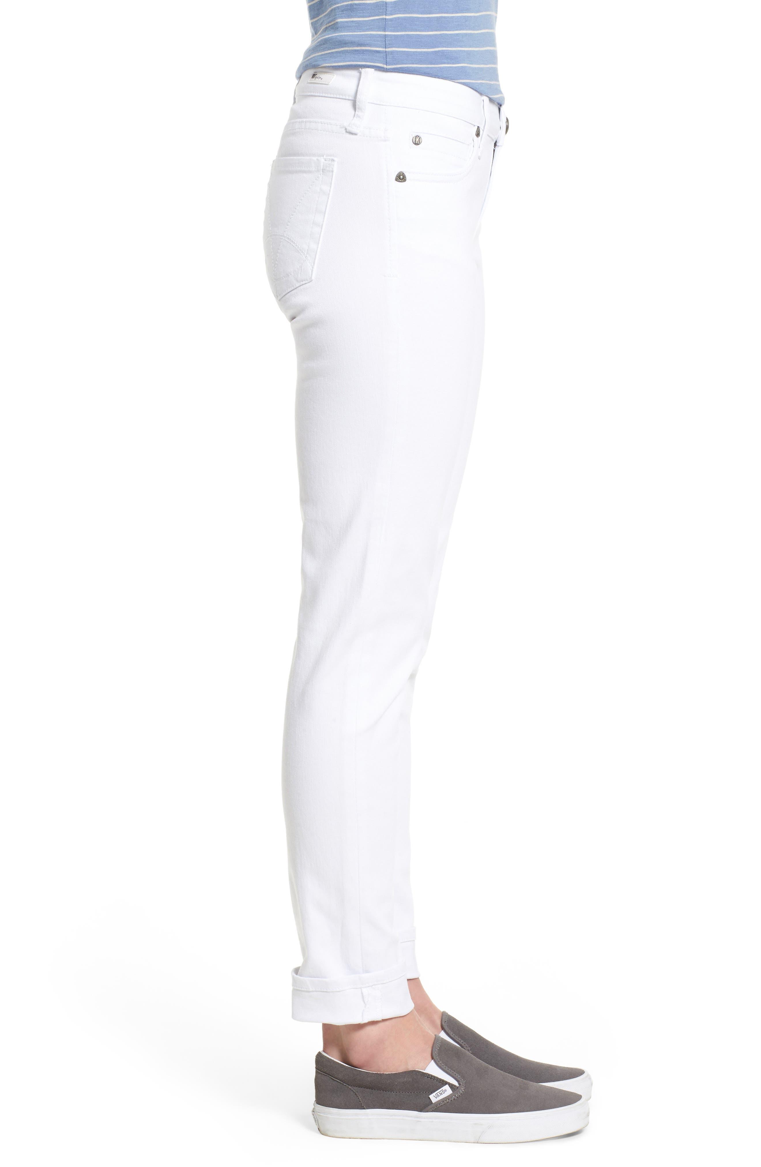 Catherine Stretch Boyfriend Jeans,                             Alternate thumbnail 4, color,                             White