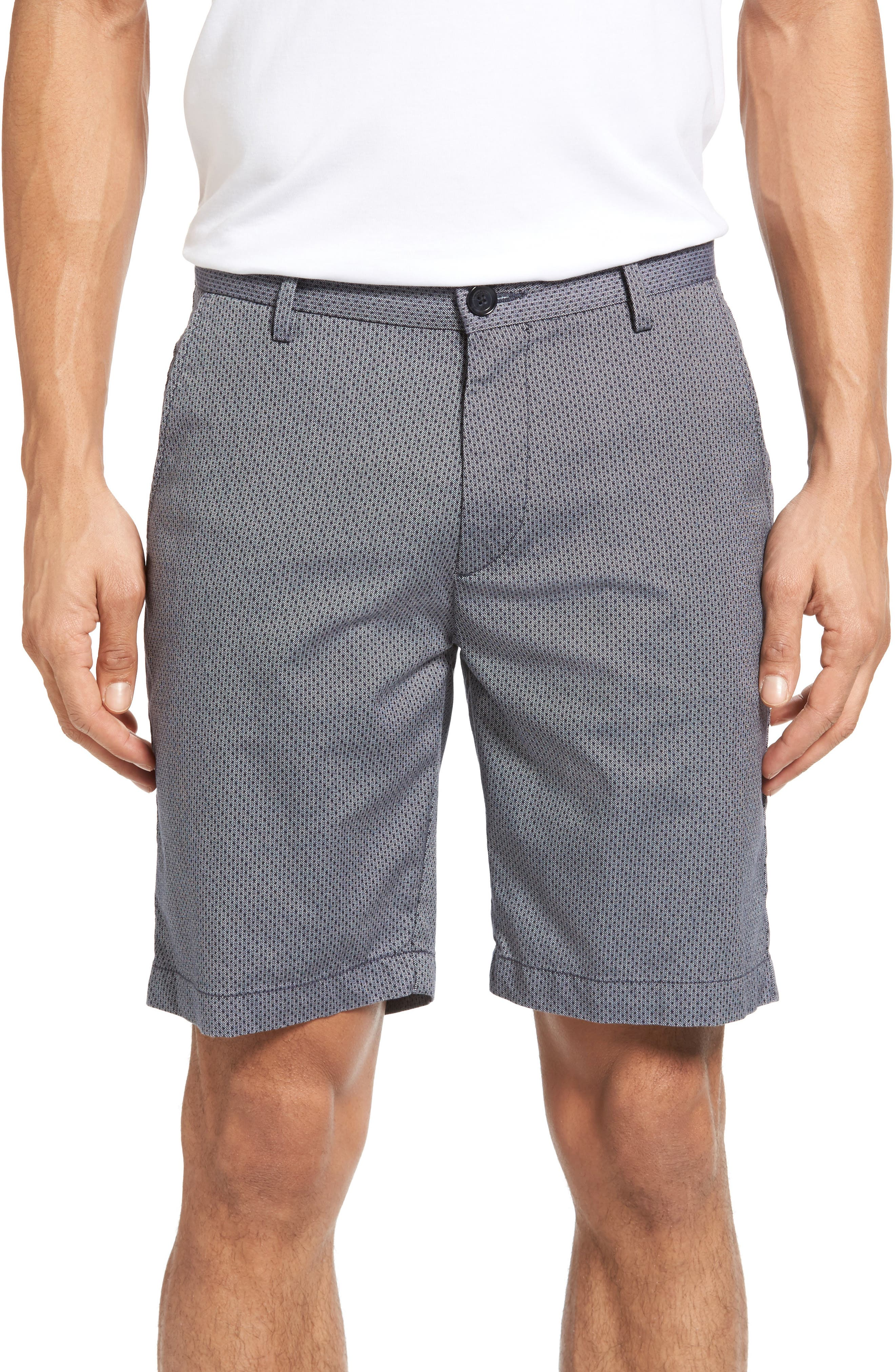 BOSS Rice Micro Print Twill Shorts