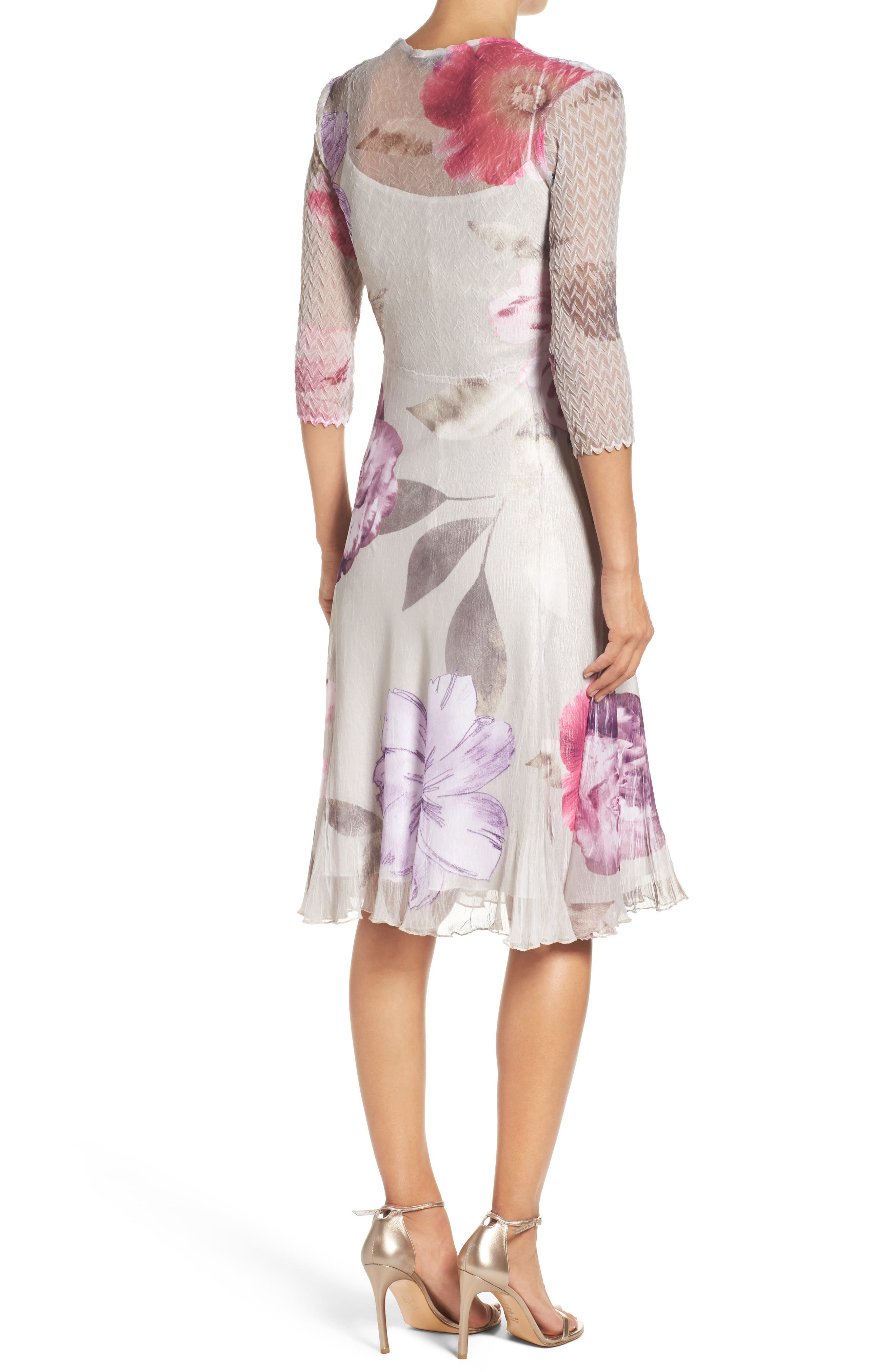 Chiffon A-Line Dress,                             Alternate thumbnail 2, color,                             Ambrosia