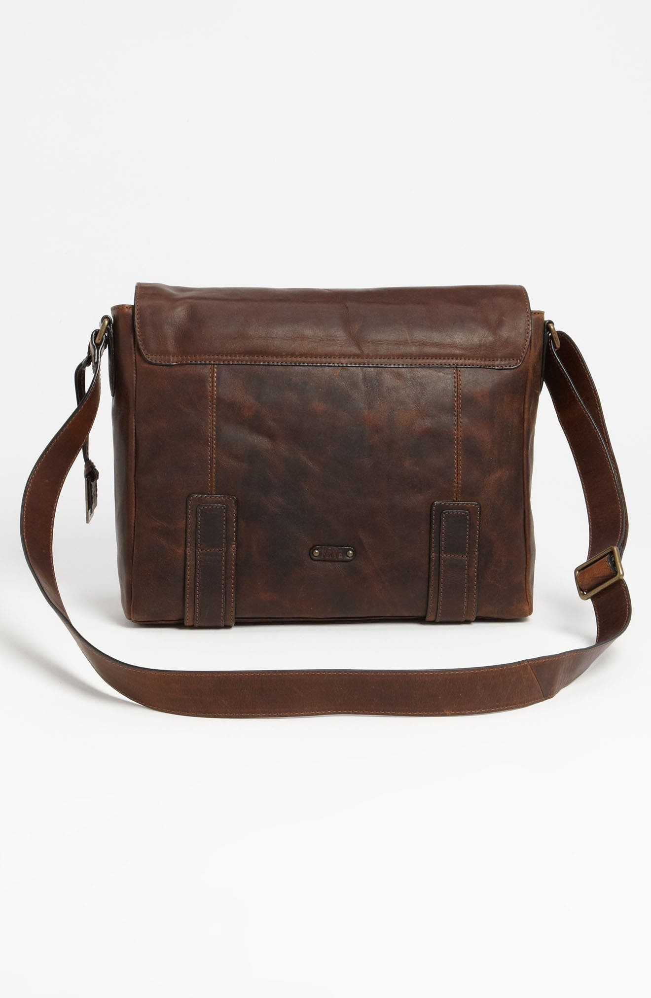 'Logan' Messenger Bag,                             Alternate thumbnail 3, color,                             Antique Dark Brown