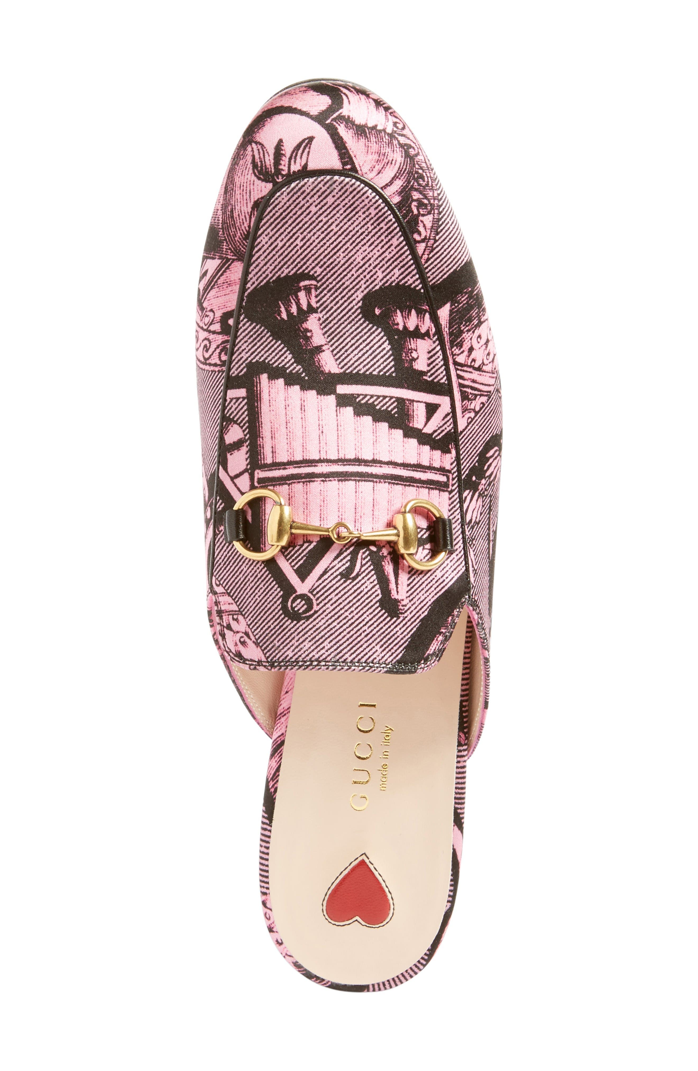 Princetown Loafer Mule,                             Alternate thumbnail 3, color,                             Pink Multi