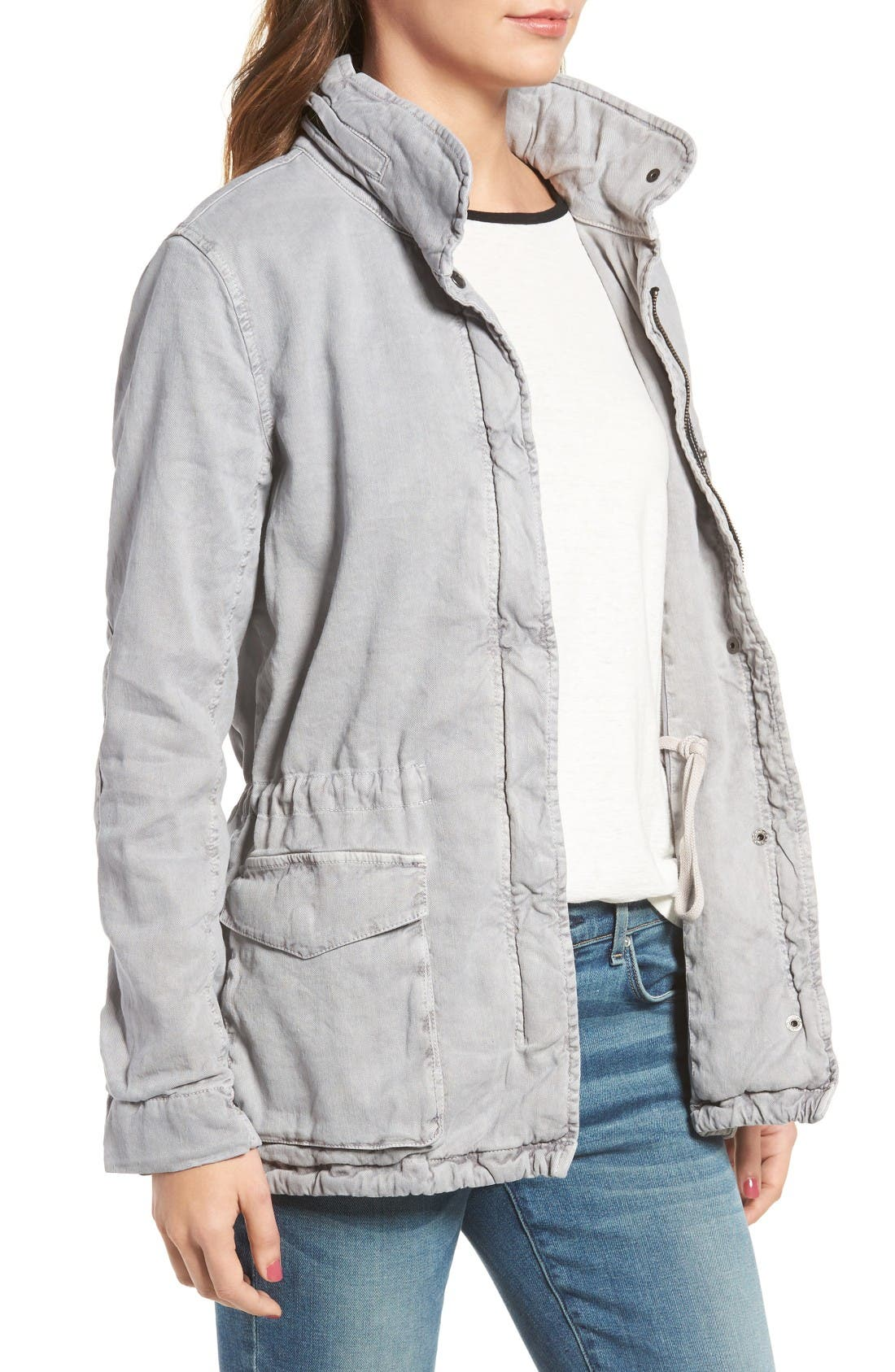 Alternate Image 3  - James Perse Stretch Twill Utility Jacket