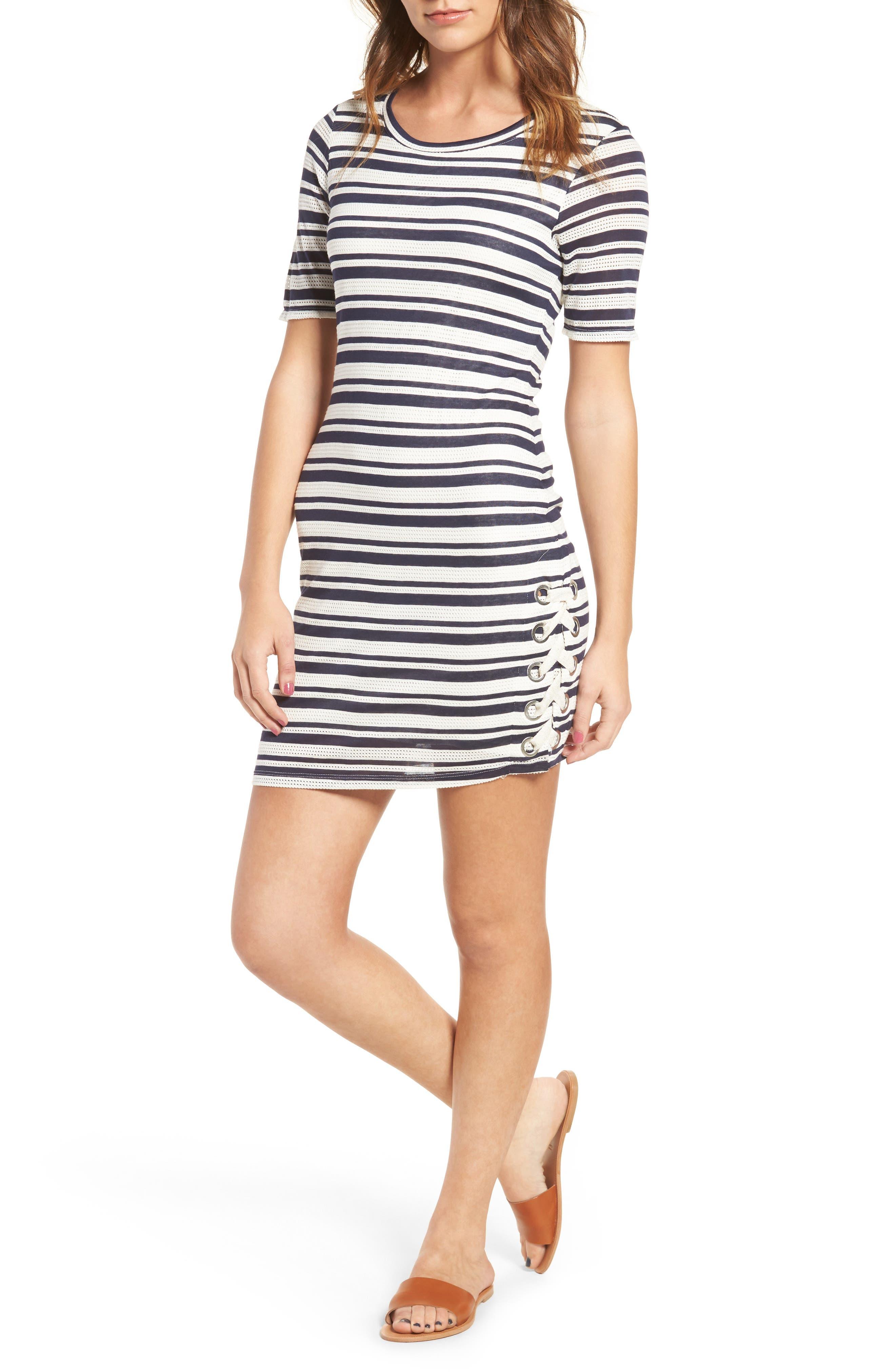 Alternate Image 1 Selected - Splendid Topsail Stripe Body-Con Dress