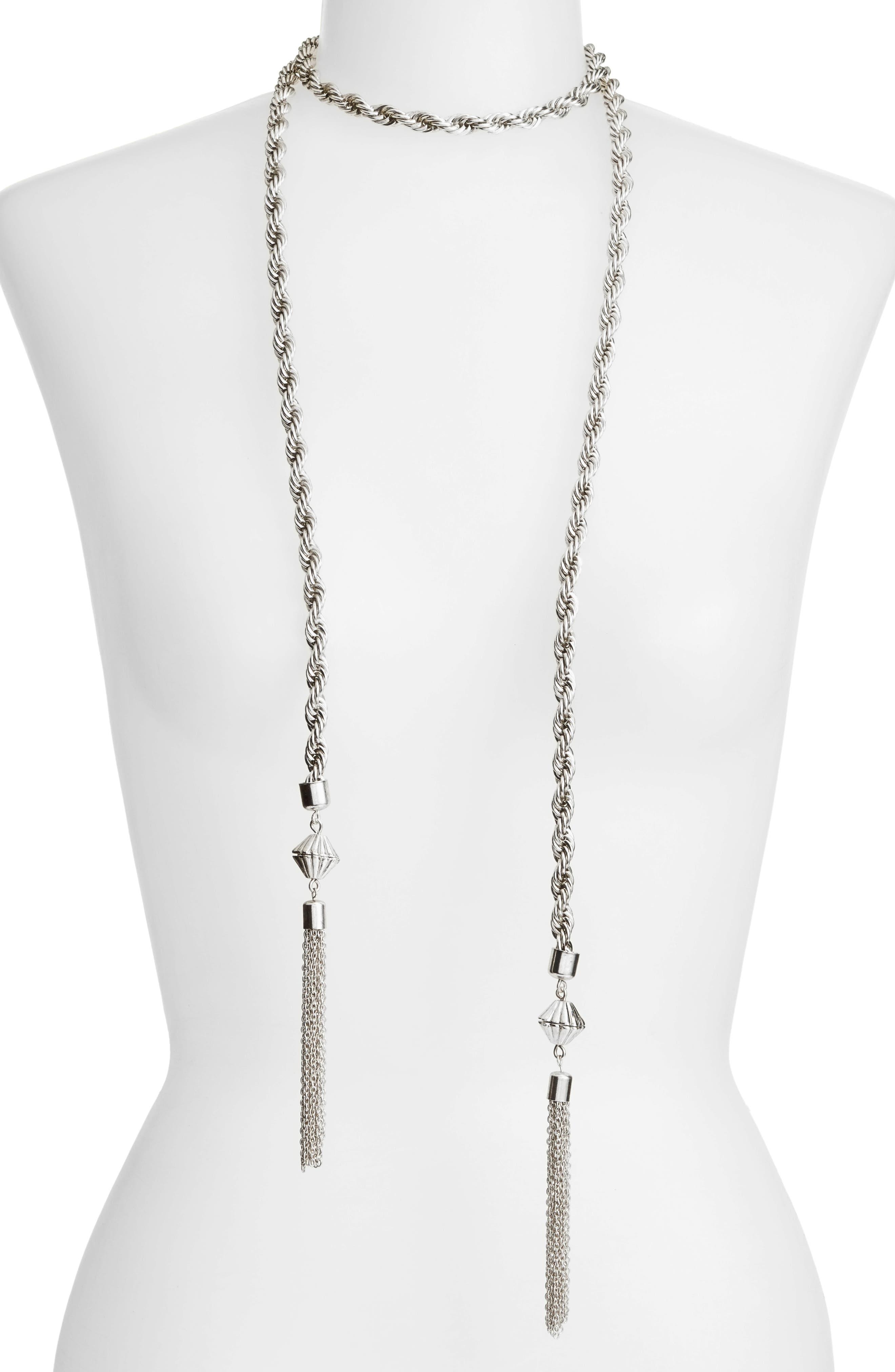 Alternate Image 2  - Karine Sultan Tassel Necklace