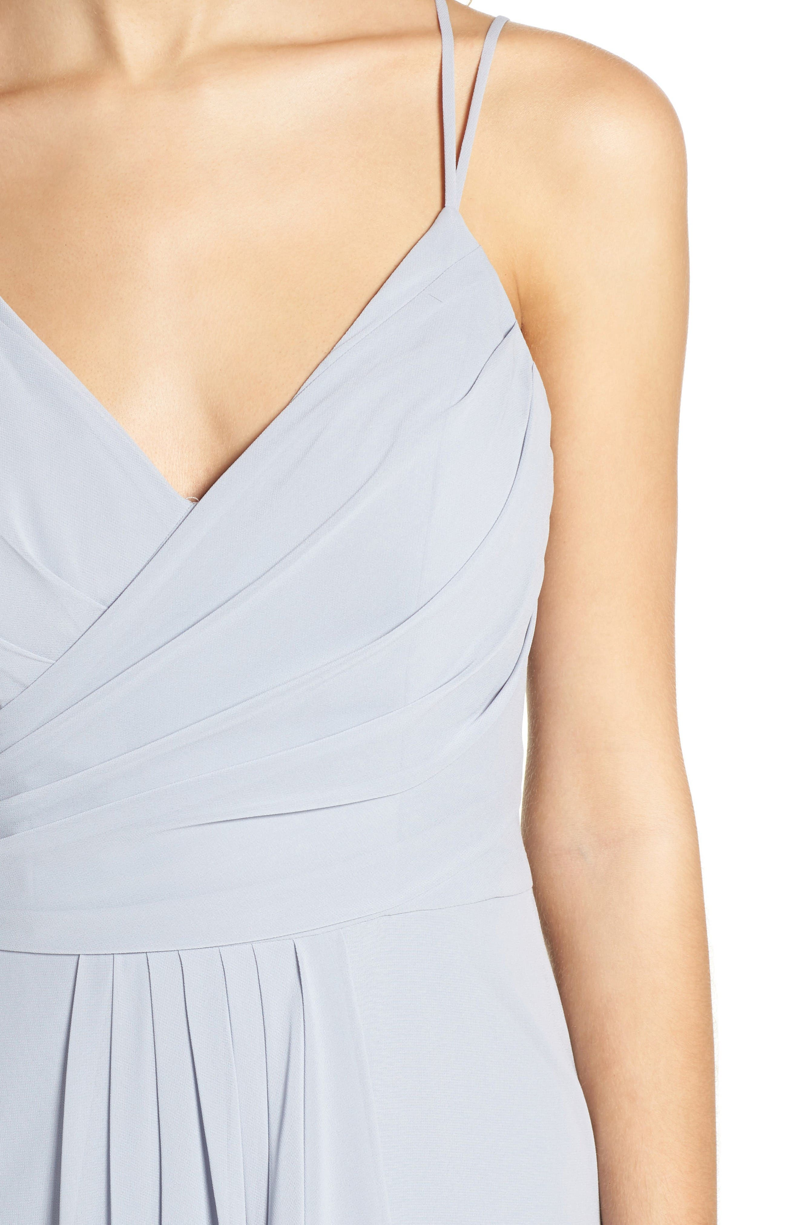 Alternate Image 4  - Hayley Paige Occasions Chiffon Gown