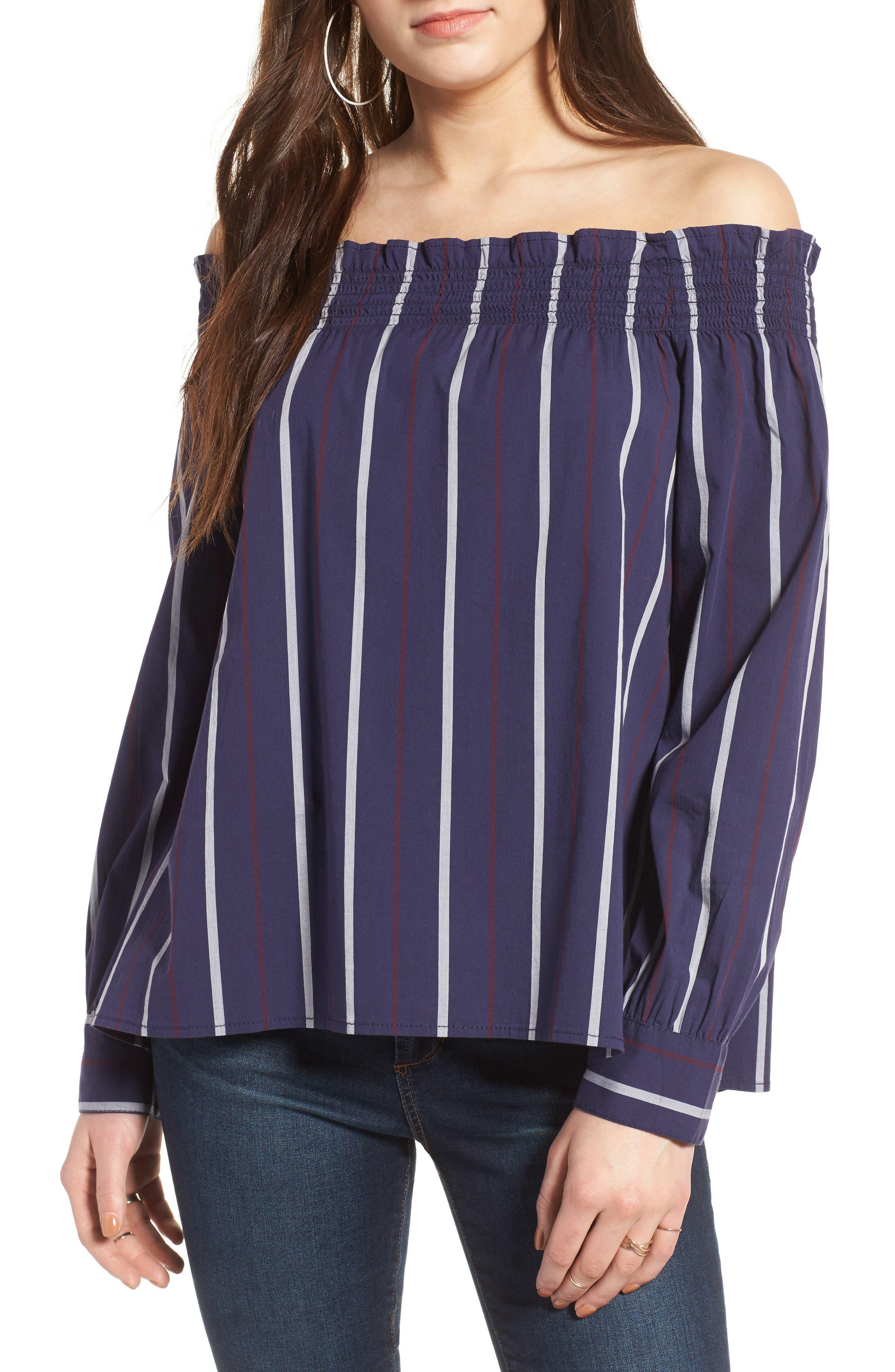 Alternate Image 1 Selected - BP. Stripe Off the Shoulder Top