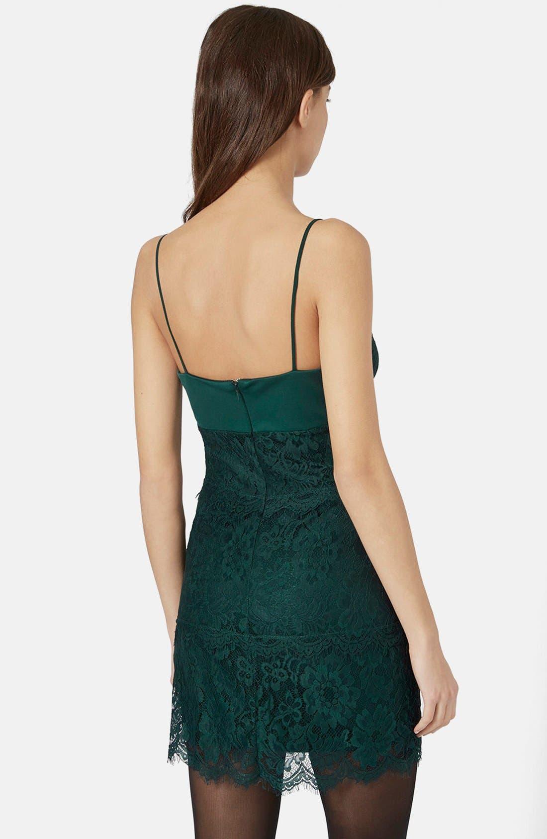 Alternate Image 4  - Topshop Lace Body-Con Slipdress (Regular & Petite)