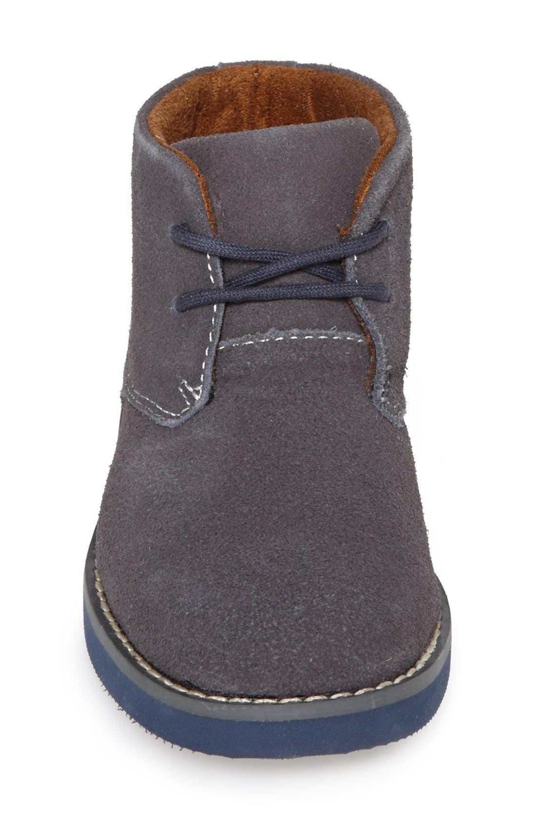 'Quinlan' Chukka Boot,                             Alternate thumbnail 3, color,                             Grey/ Navy Sole
