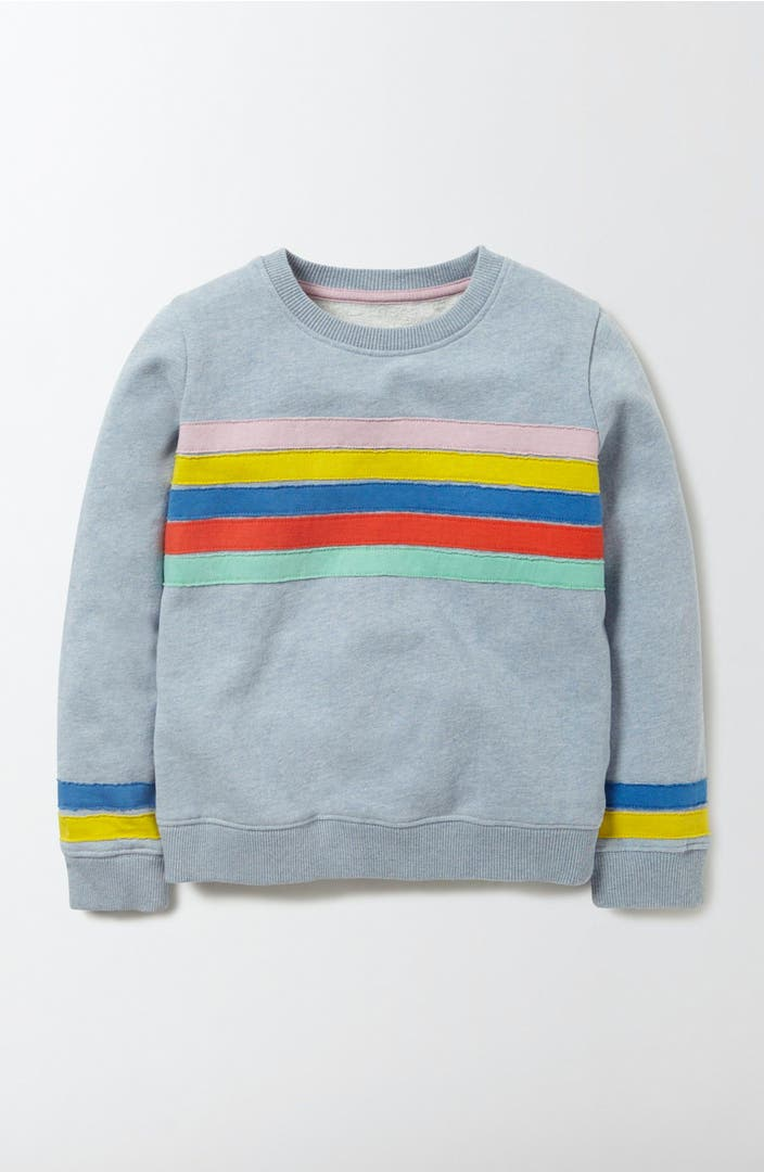 Mini boden colorful appliqu sweatshirt toddler girls for Shop mini boden