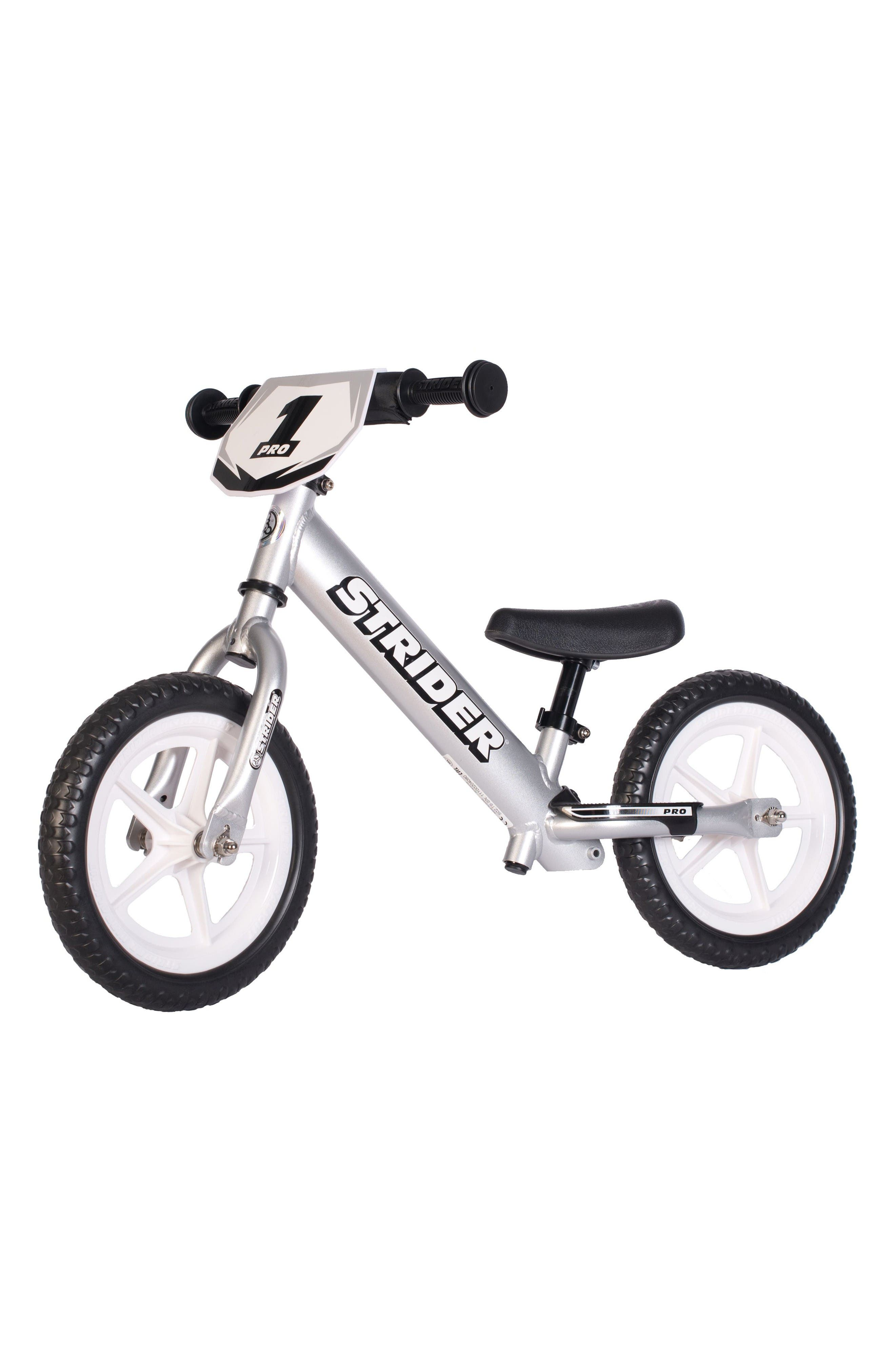 12 Pro Balance No Pedal Bike,                         Main,                         color, Silver