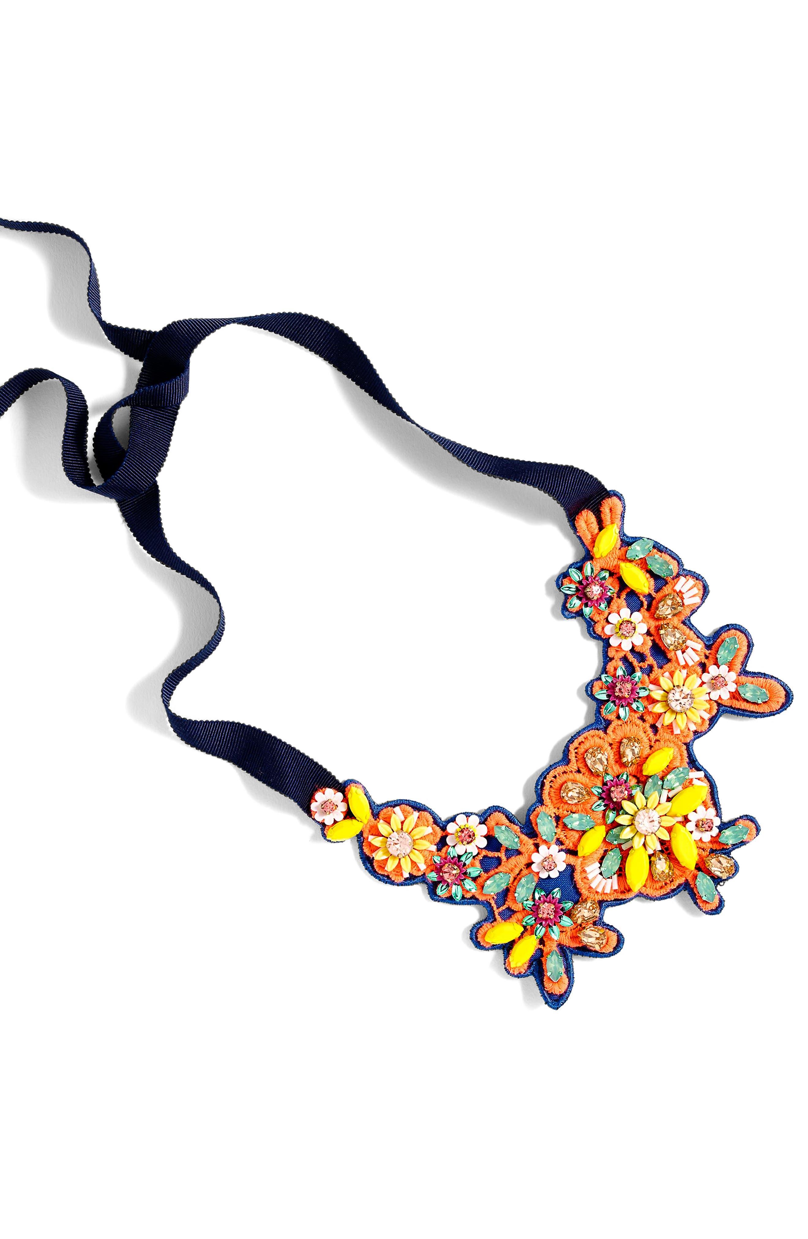 Alternate Image 1 Selected - J.Crew Embellished Crystal Bib Necklace