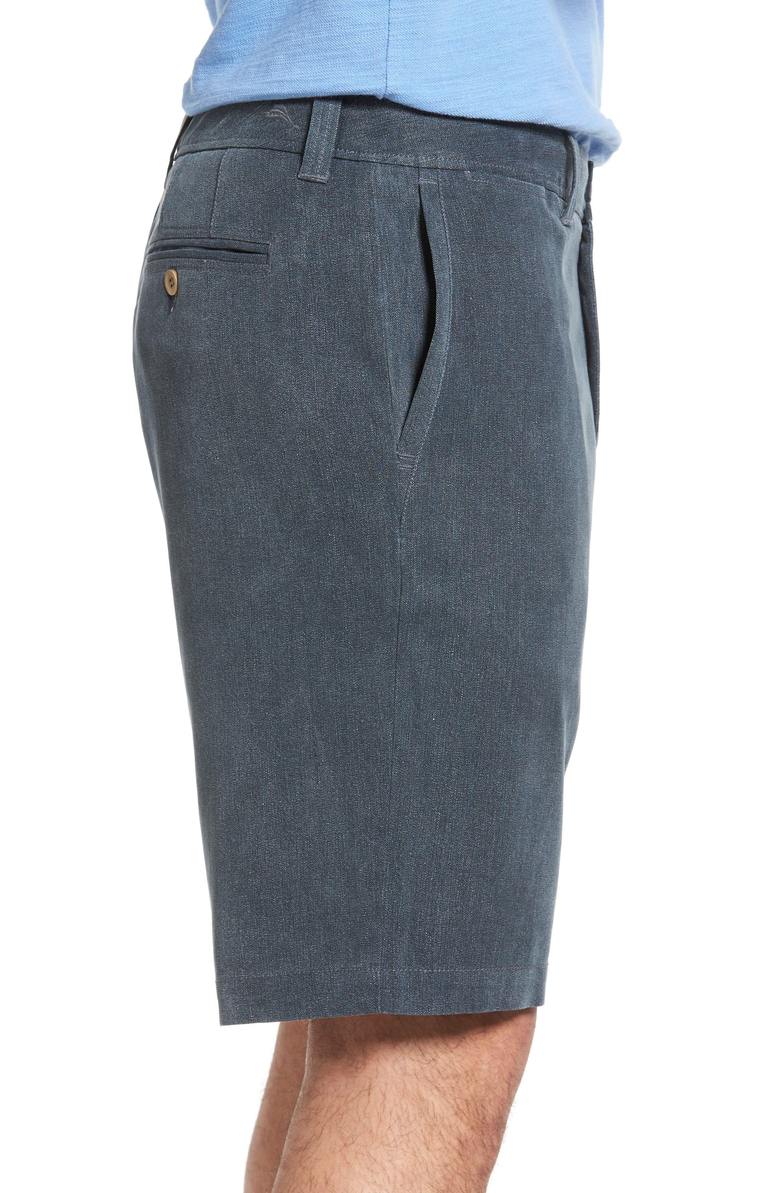 Alternate Image 3  - Tommy Bahama Havana Herringbone Silk Blend Chino Shorts
