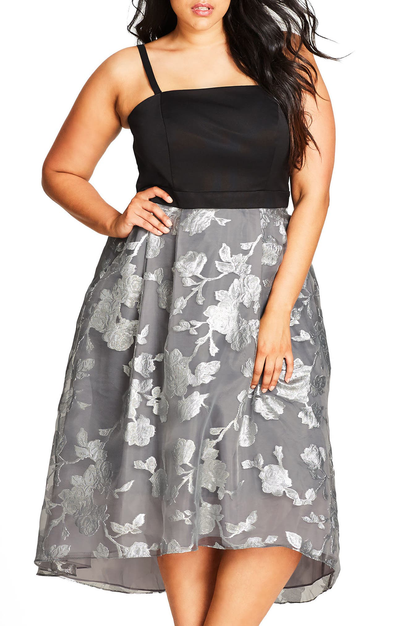 City Chic Colorblock Midi Dress (Plus Size)